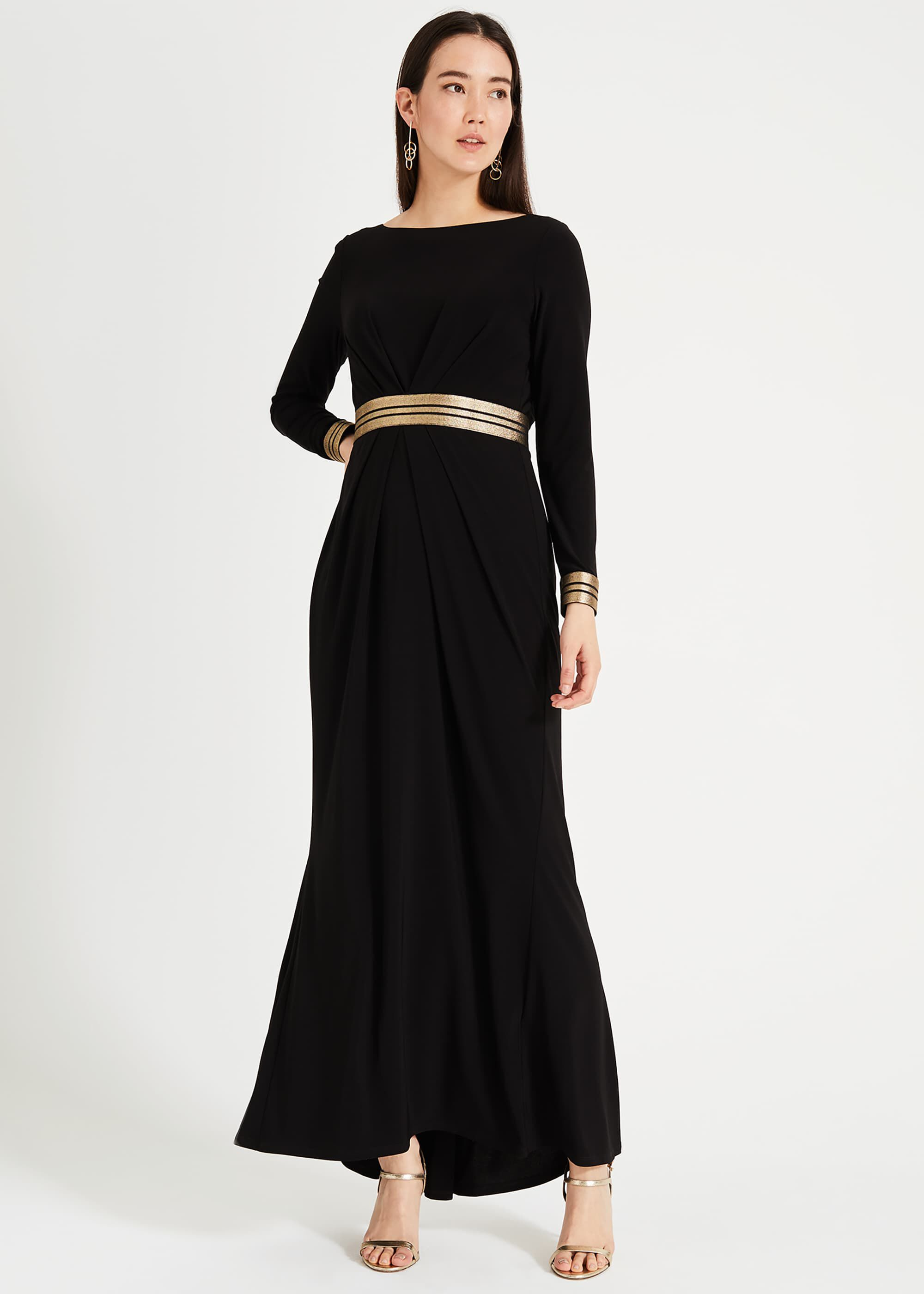 Phase Eight Faber Maxi Dress, Black, Maxi, Occasion Dress
