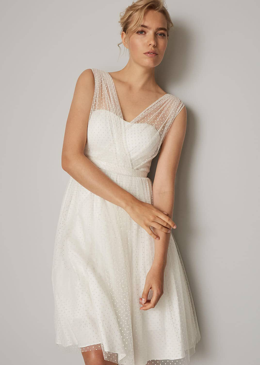1960s Style Dresses, Clothing, Shoes UK Phase Eight Mae Wedding Dress Neutral Wedding £175.00 AT vintagedancer.com