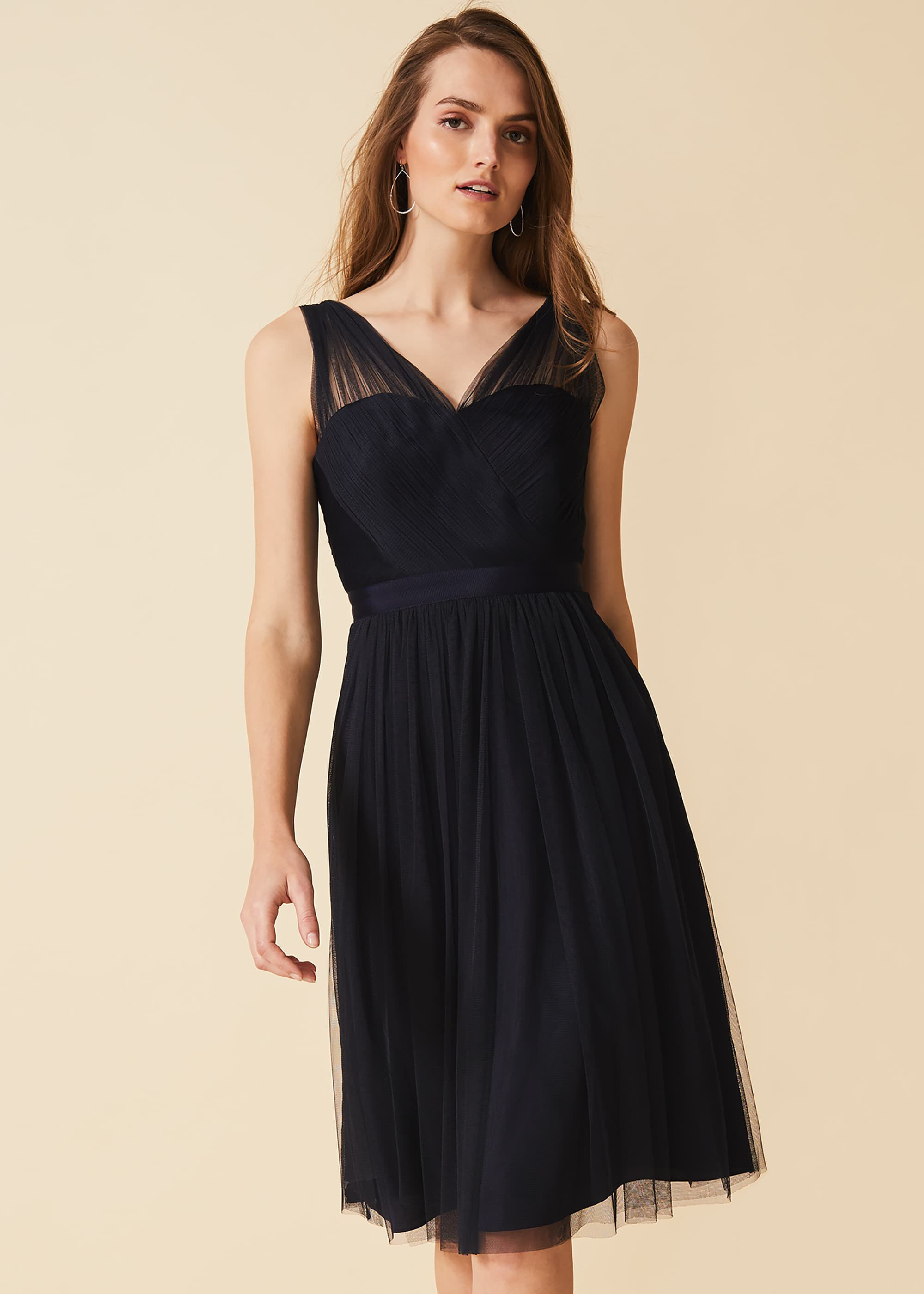 Phase Eight Romy Tulle Dress, Blue, Fit & Flare