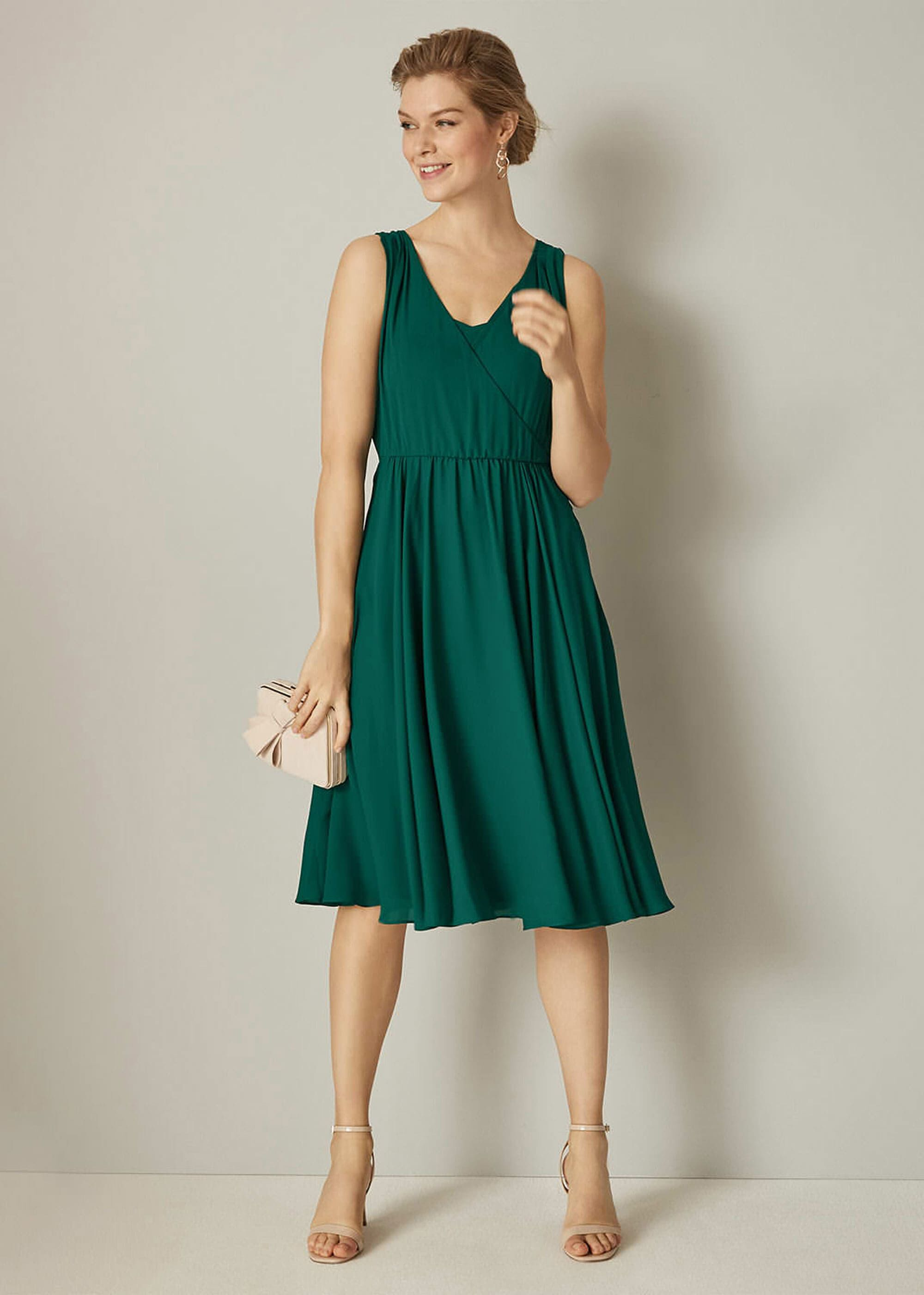 Phase Eight Rosa Bridesmaid Dress, Green, Fit & Flare