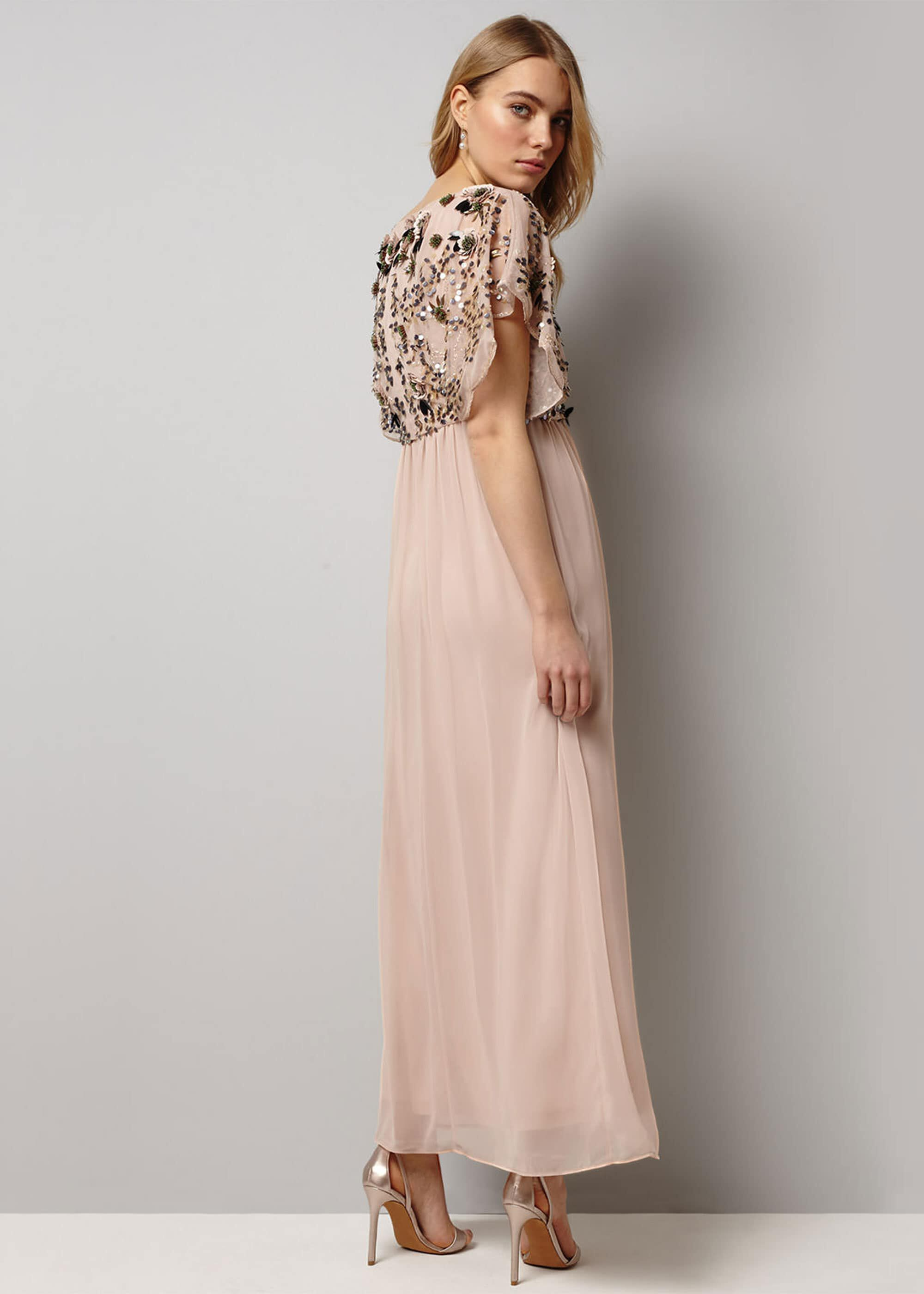 Phase Eight Aaliyah Embellished Maxi Dress, Pink, Maxi