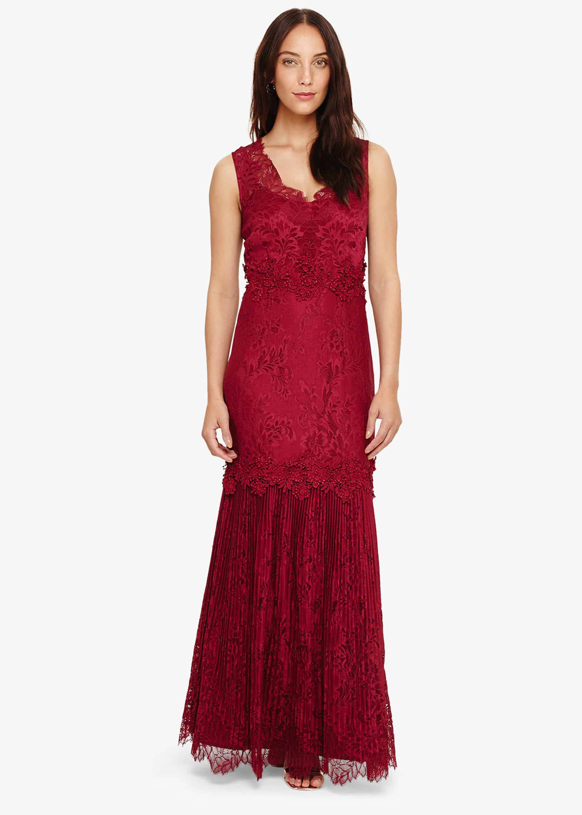 Phase Eight Artemis Lace Maxi Dress, Purple, Maxi