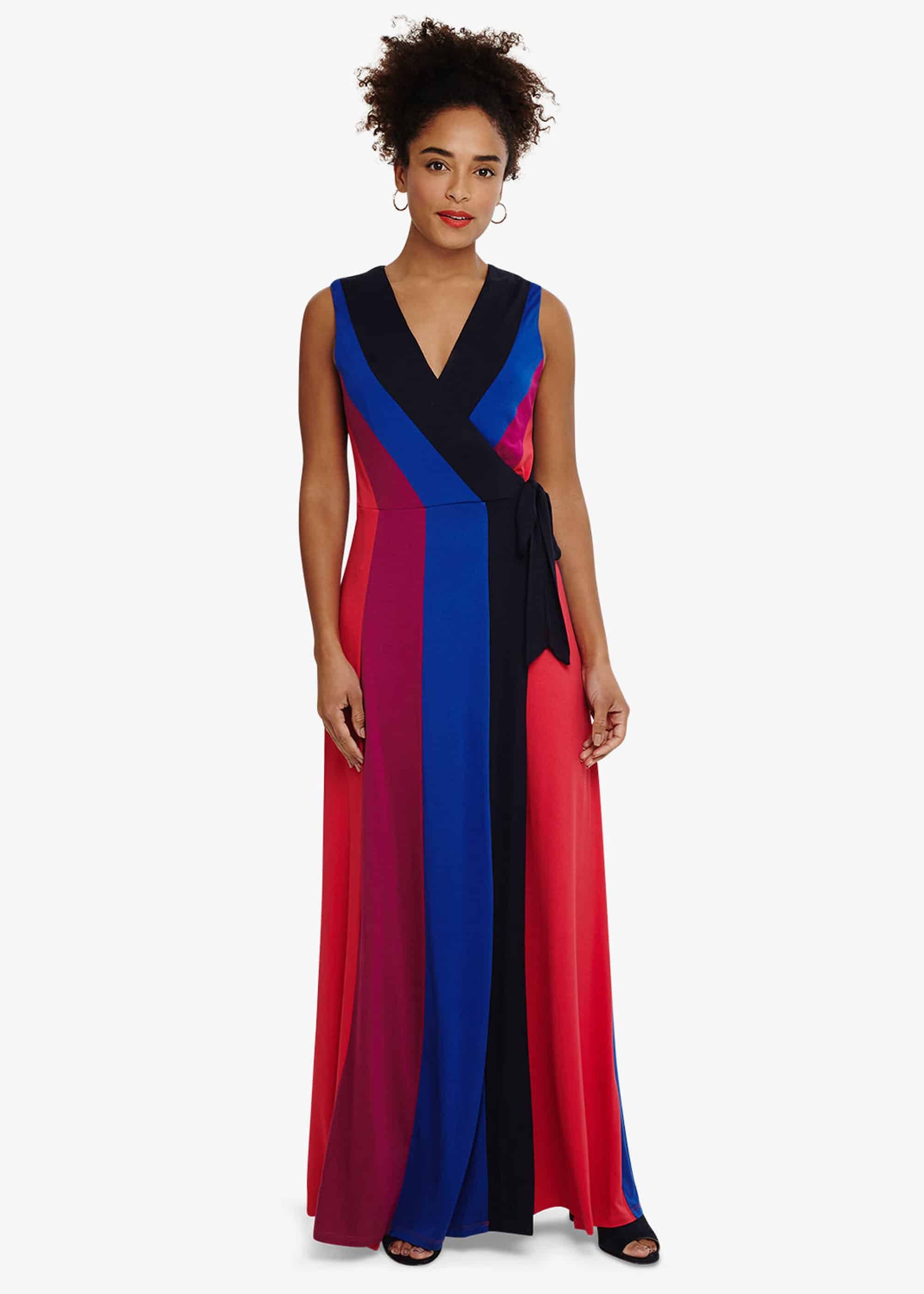 Phase Eight Magdala Colour Block Maxi Dress, Multicoloured, Maxi
