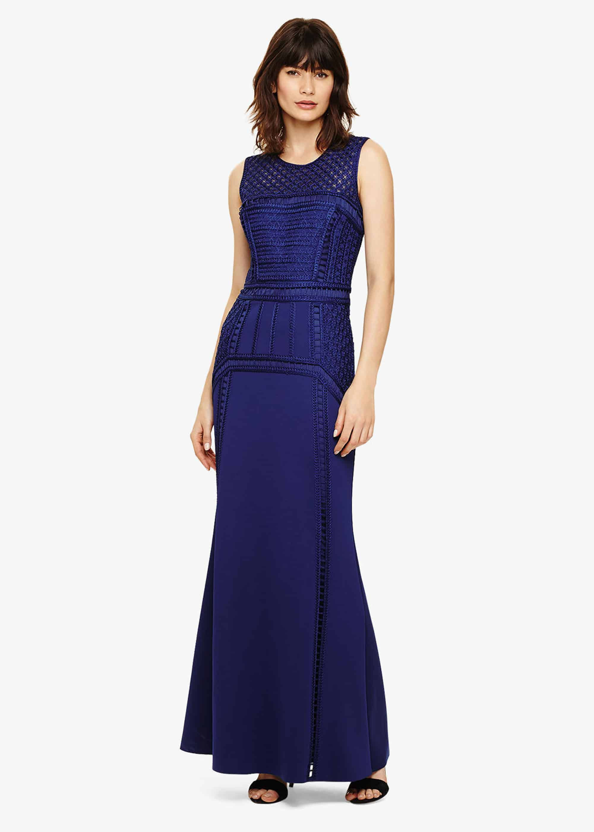 Phase Eight Davina Maxi Dress, Blue, Maxi