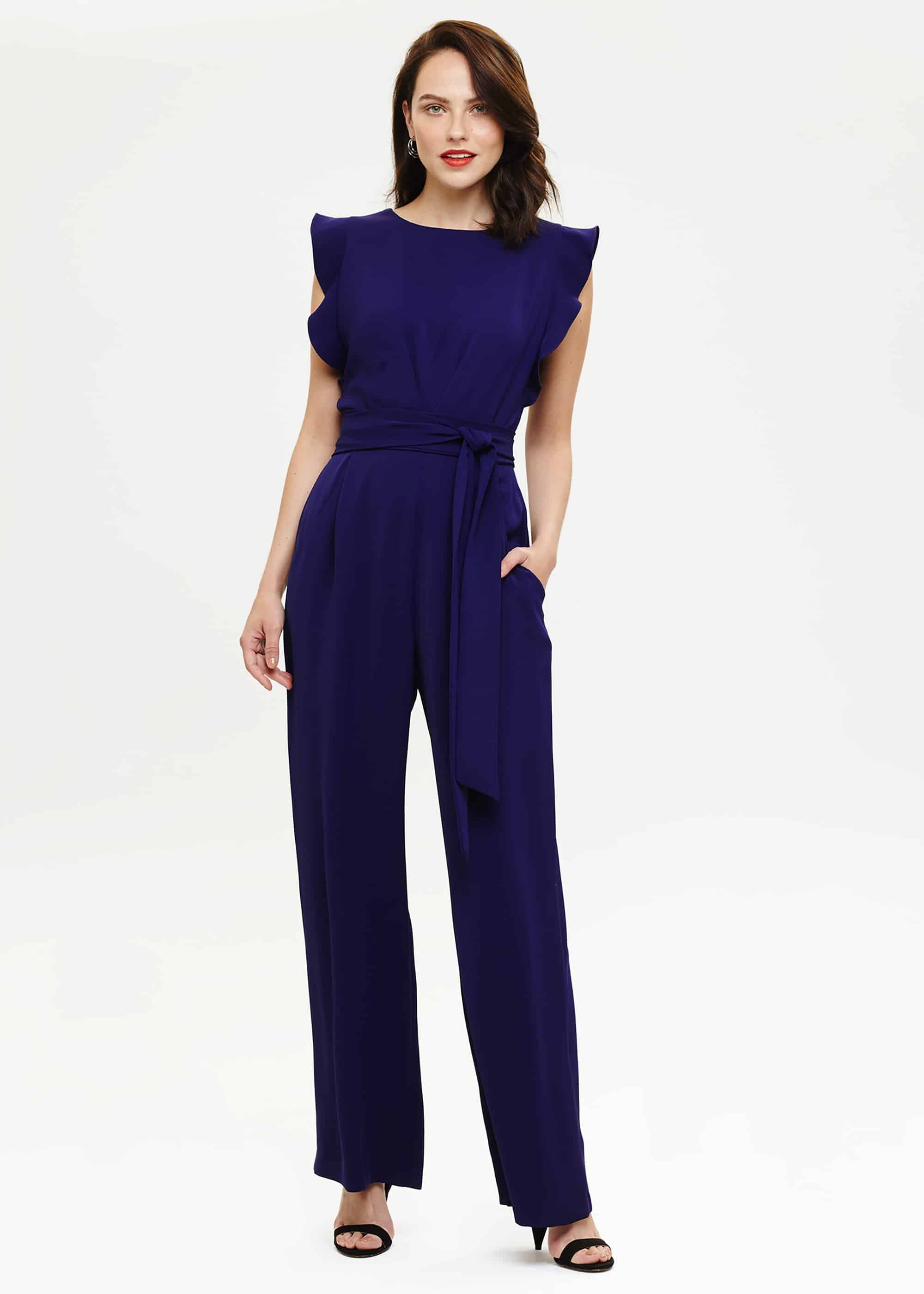 Phase Eight Victoriana Jumpsuit, Purple, Jumpsuit