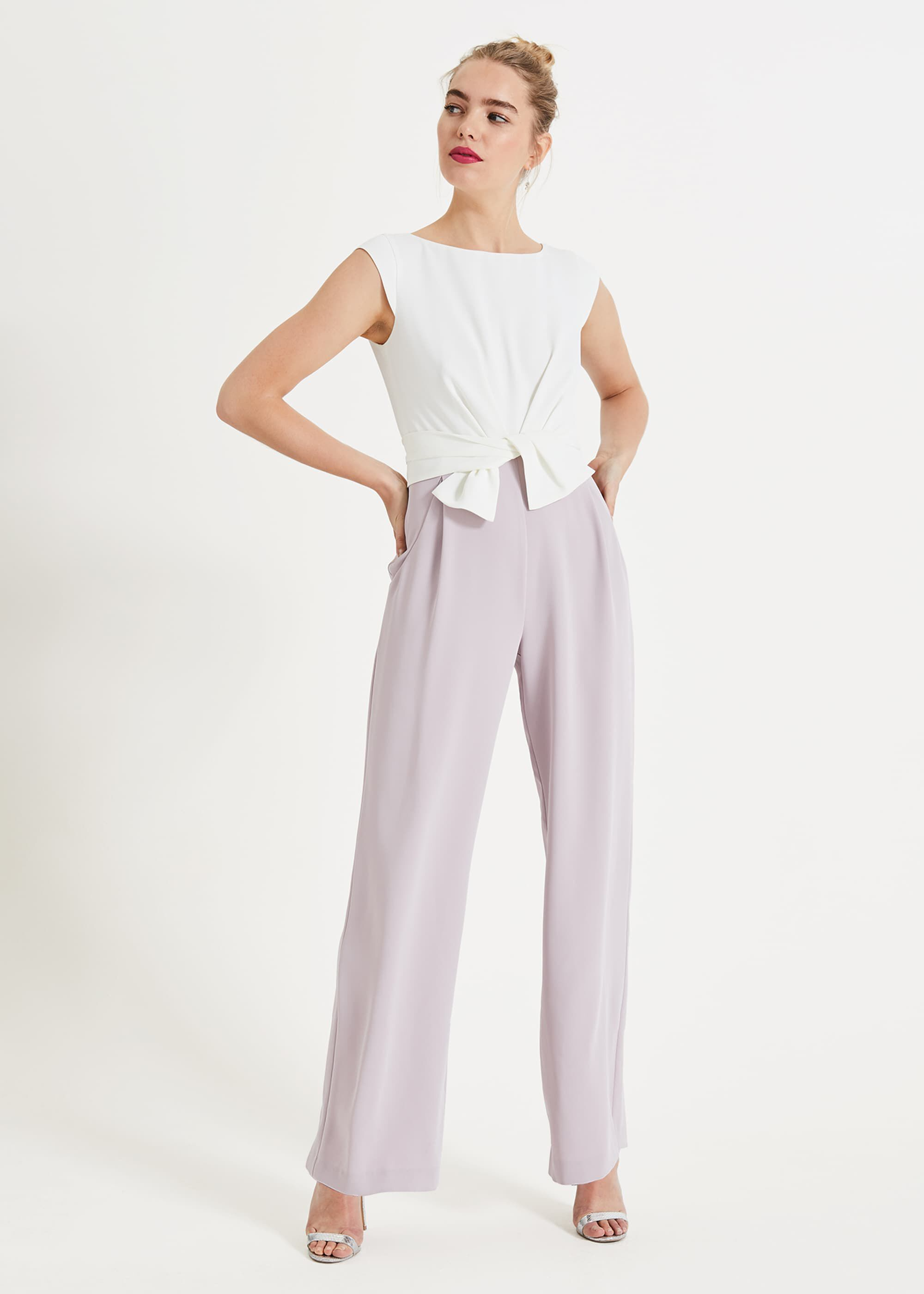 Phase Eight Janey Knot Jumpsuit, Cream, Jumpsuit