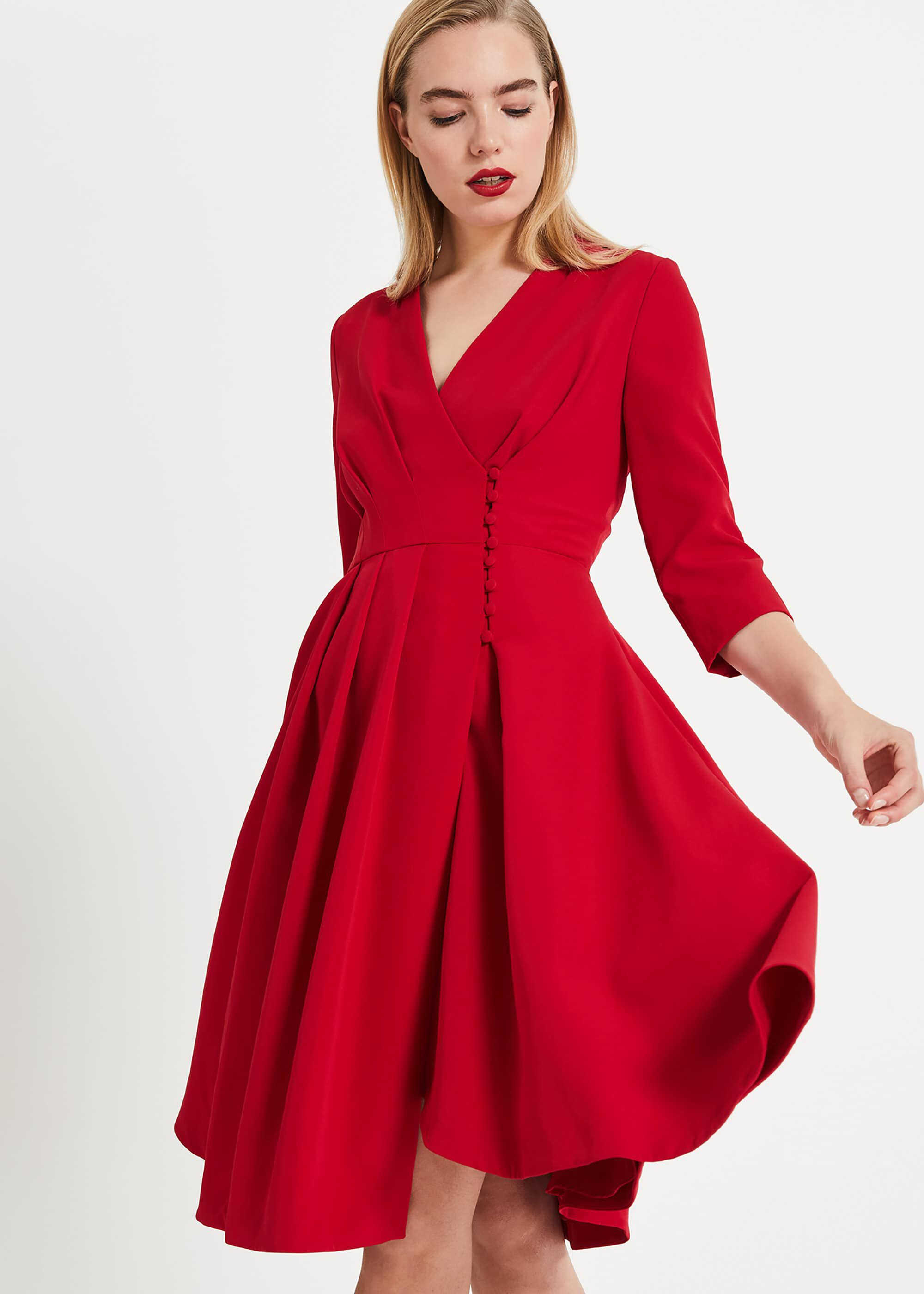 Phase Eight Tania Coat Dress, Red, Shift, Occasion Dress