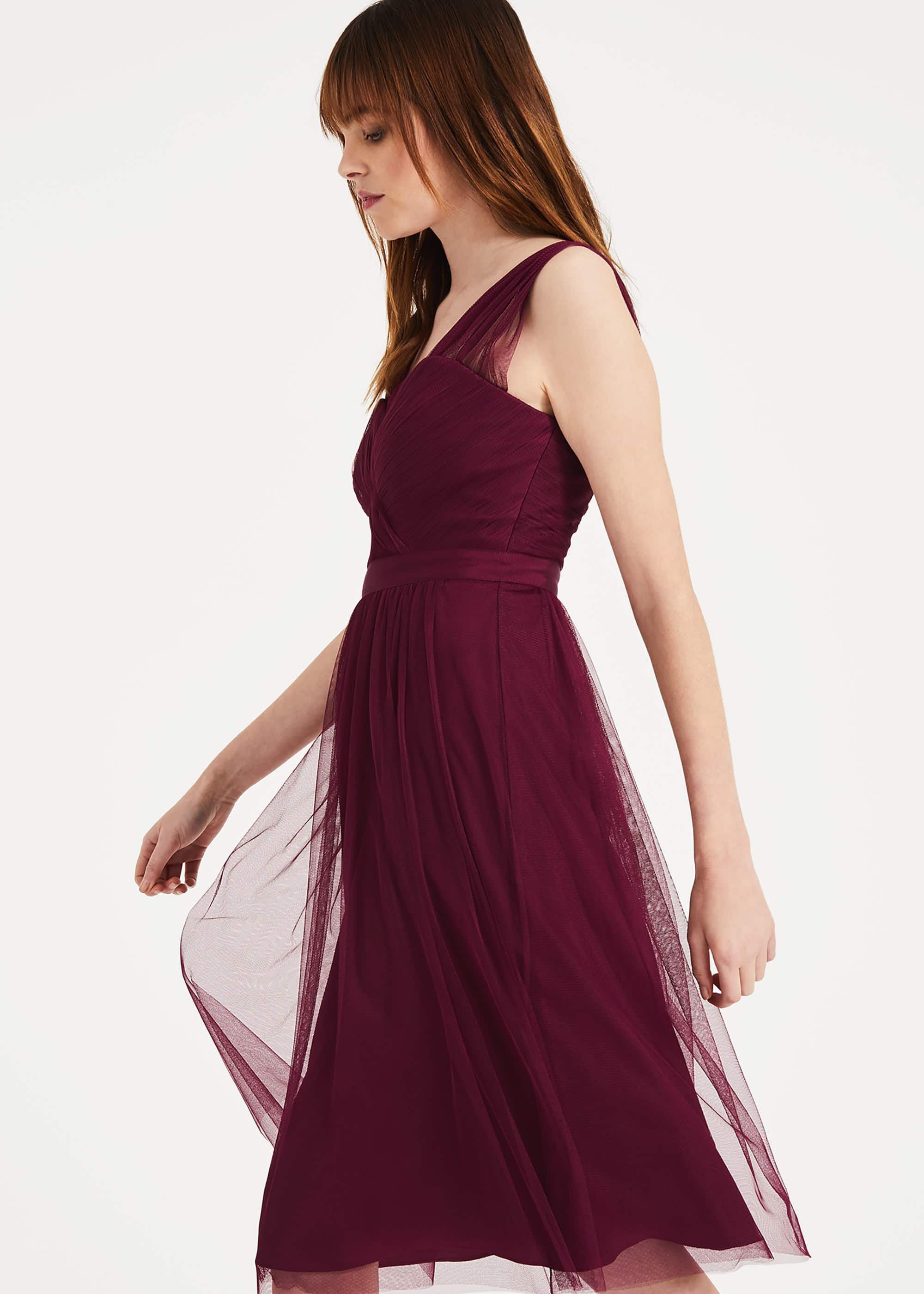 Phase Eight Romy Tulle Dress, Purple, Fit & Flare, Occasion Dress
