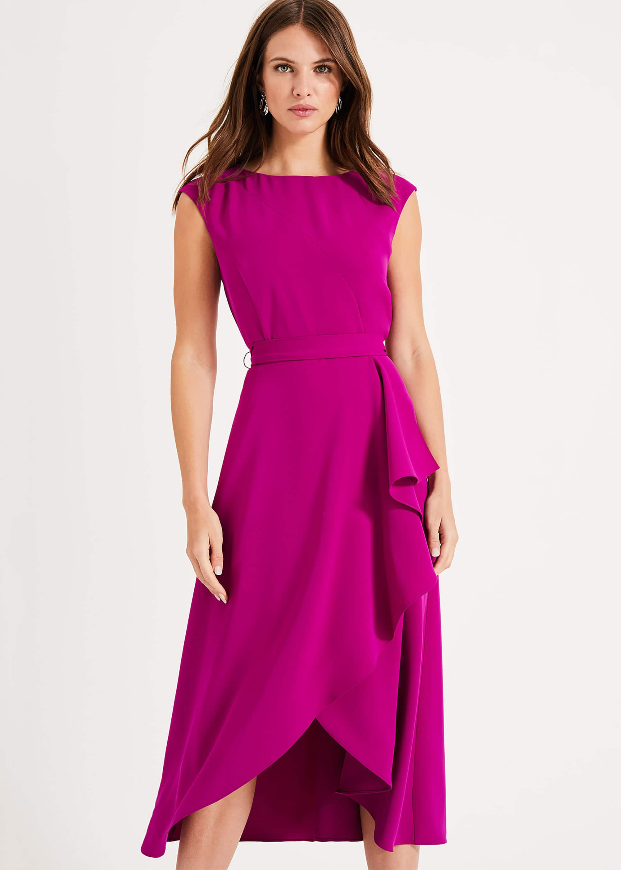 Phase Eight Rushelle Dress, Purple, Fit & Flare