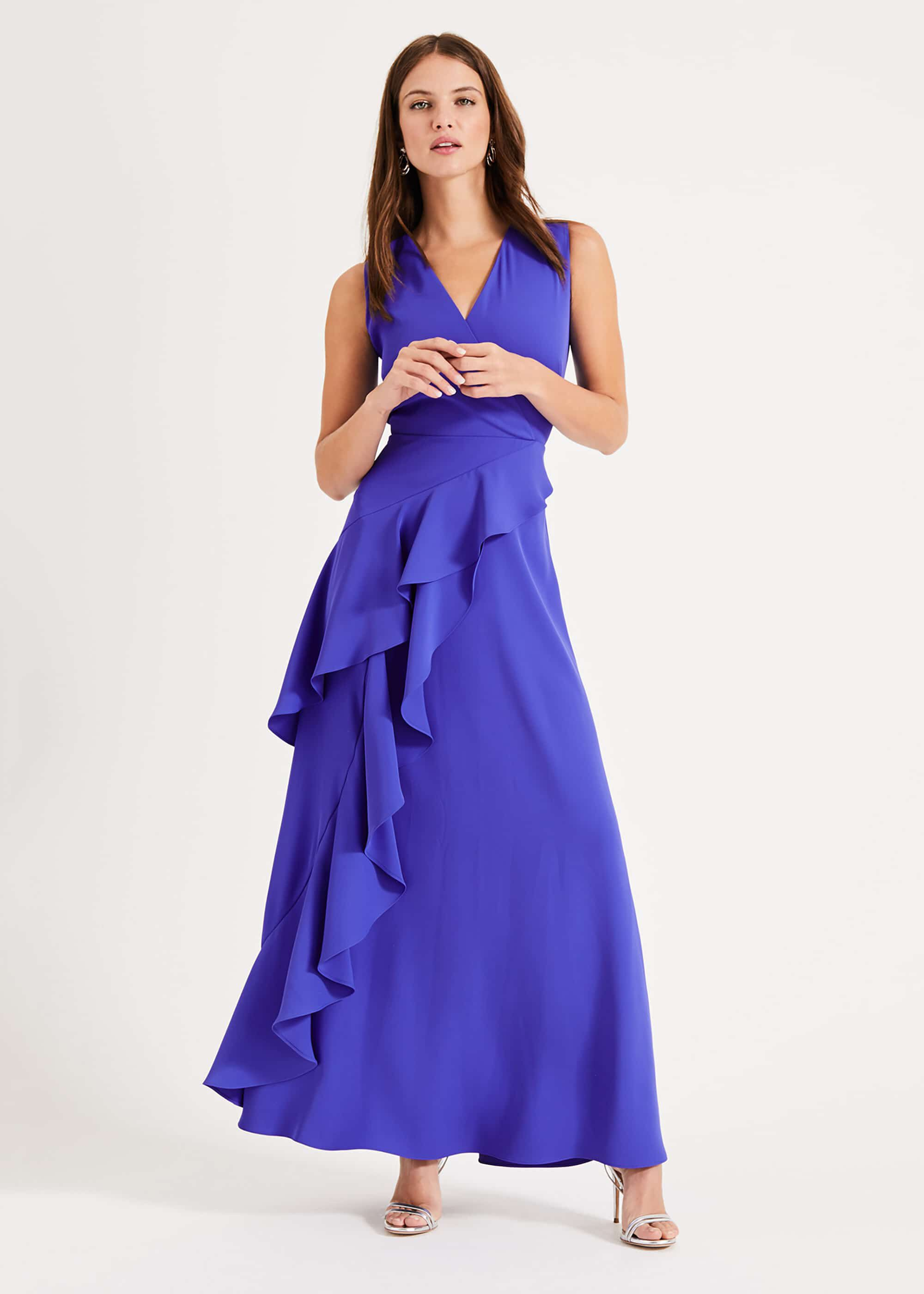 Phase Eight Constansie Maxi Dress, Blue, Maxi, Occasion Dress