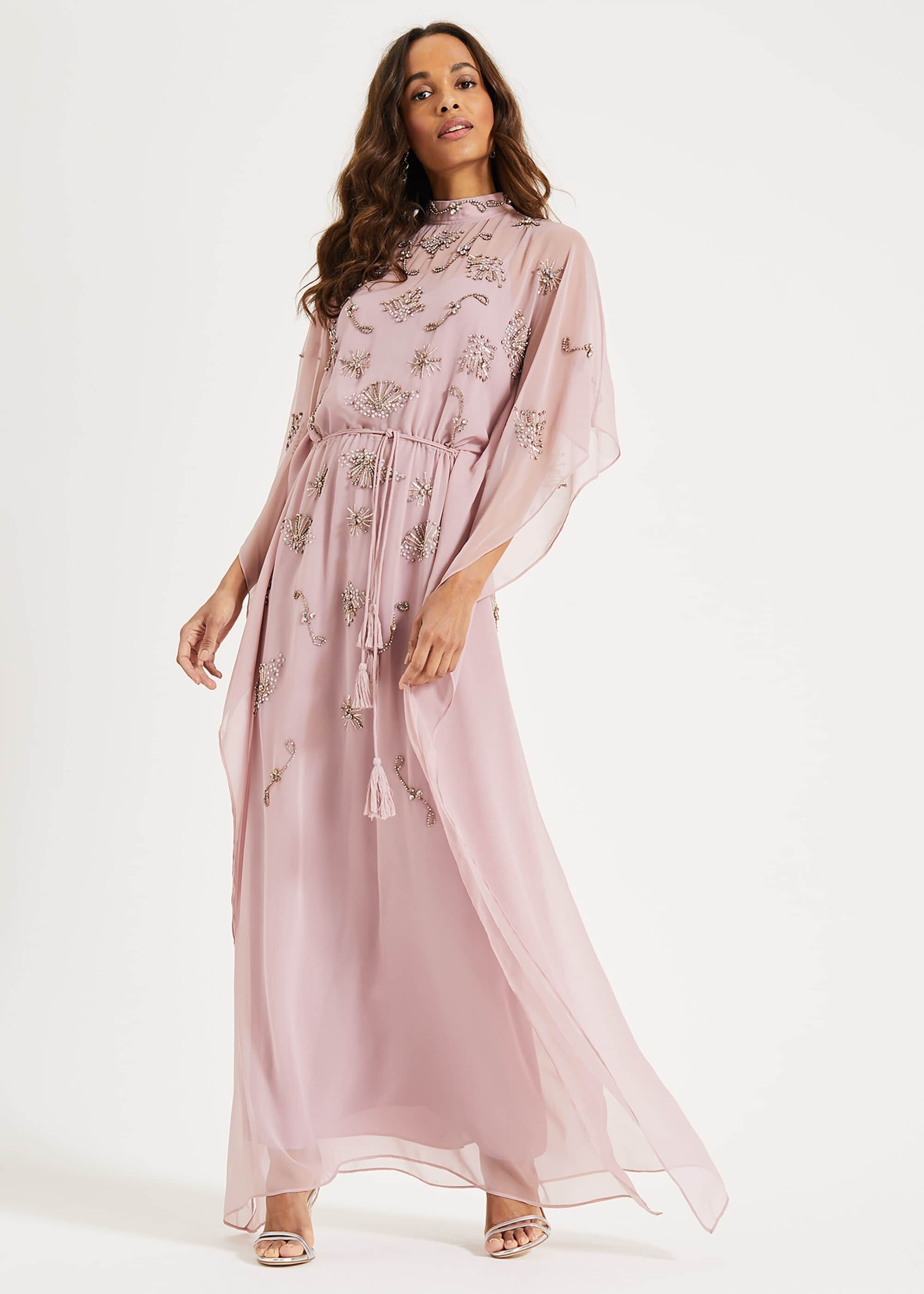 Phase Eight Sairah Kimono Maxi Dress, Pink, Maxi