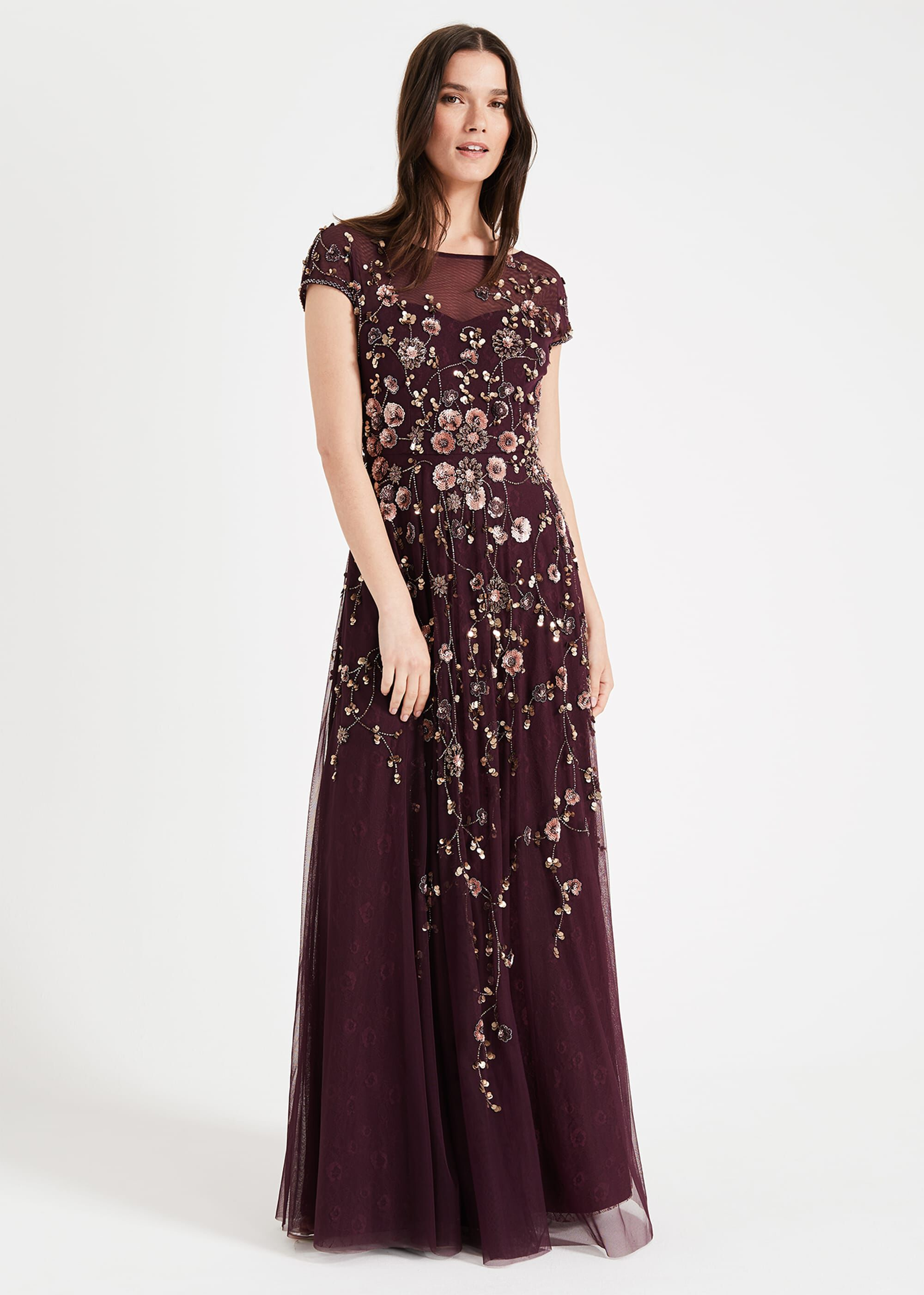 Phase Eight Alanis Floral Maxi Dress, Red, Maxi, Occasion Dress