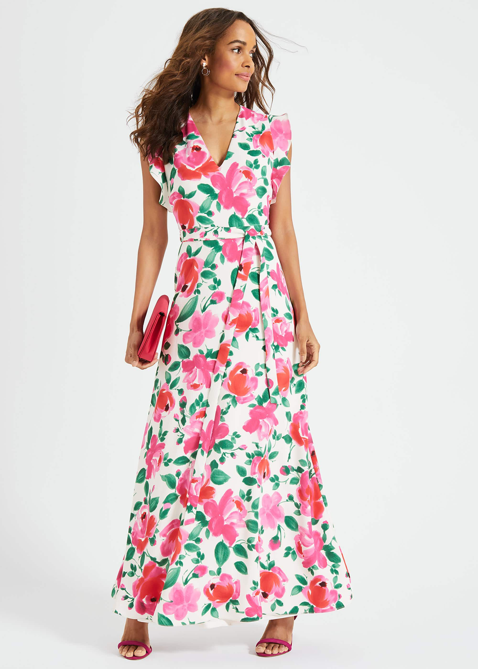 Phase Eight Rosita Printed Maxi Dress, Multicoloured, Maxi, Occasion Dress