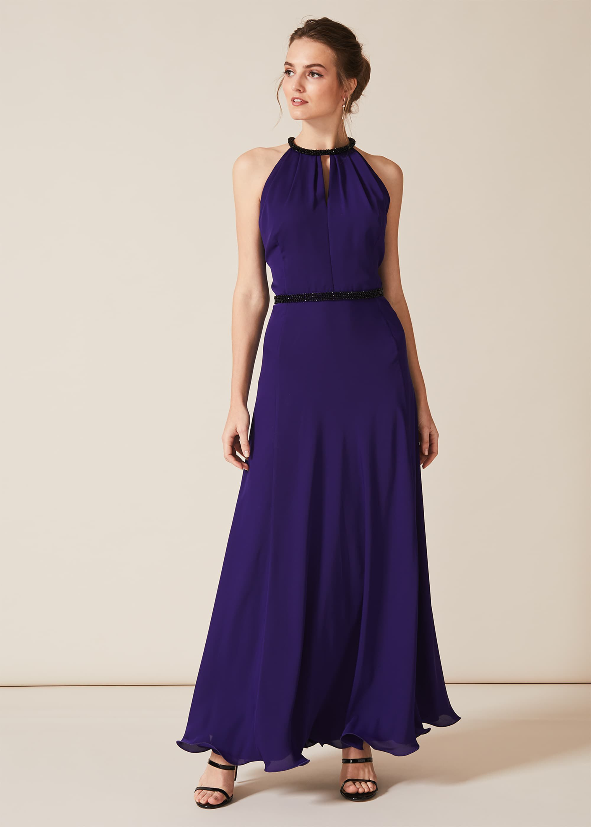 Phase Eight Perrie Maxi Dress, Purple, Maxi