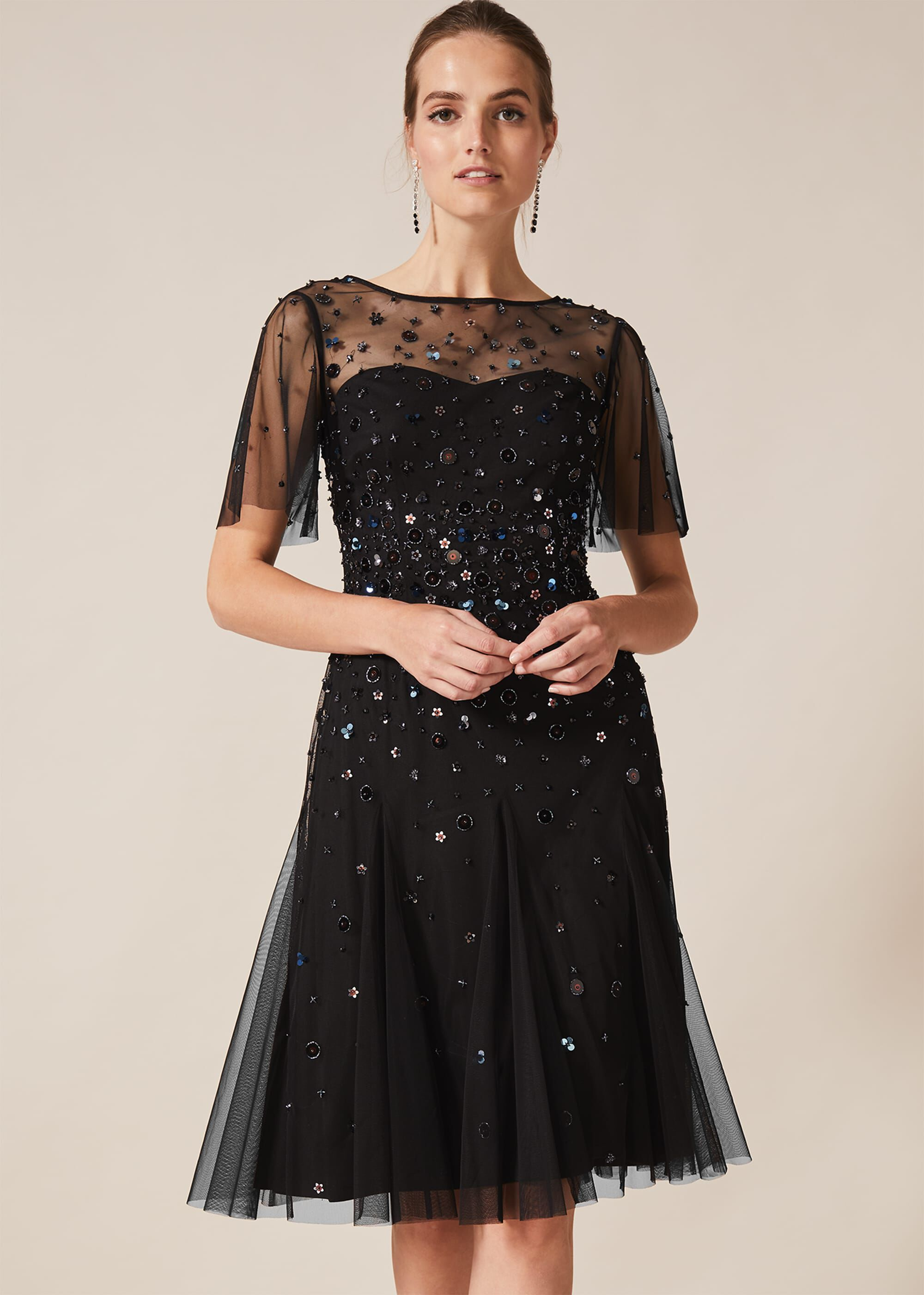Phase Eight Molly Short Sequin Dress, Multicoloured, Cocktail, Occasion Dress