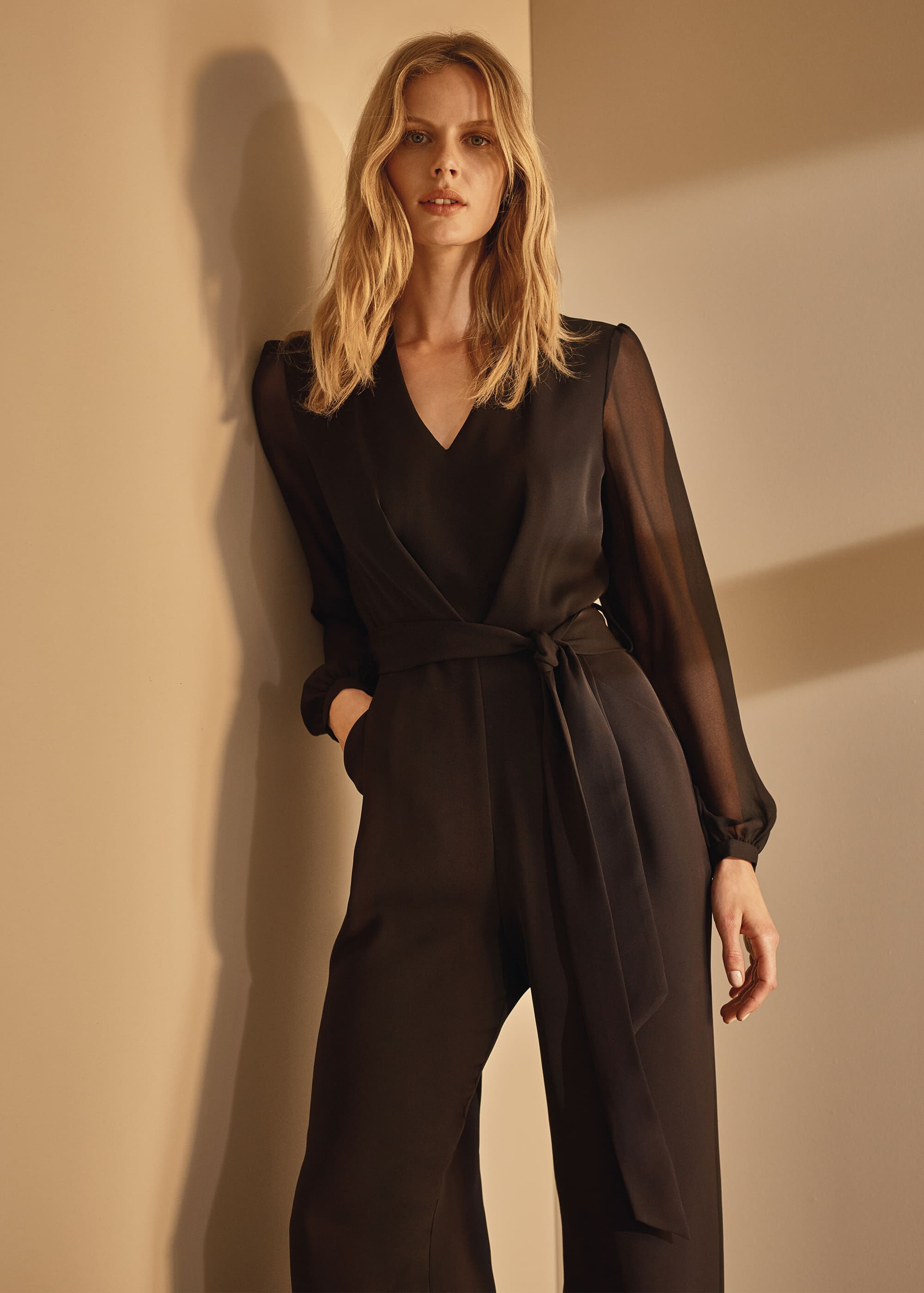 Phase Eight Audrey Jumpsuit, Black, Jumpsuit