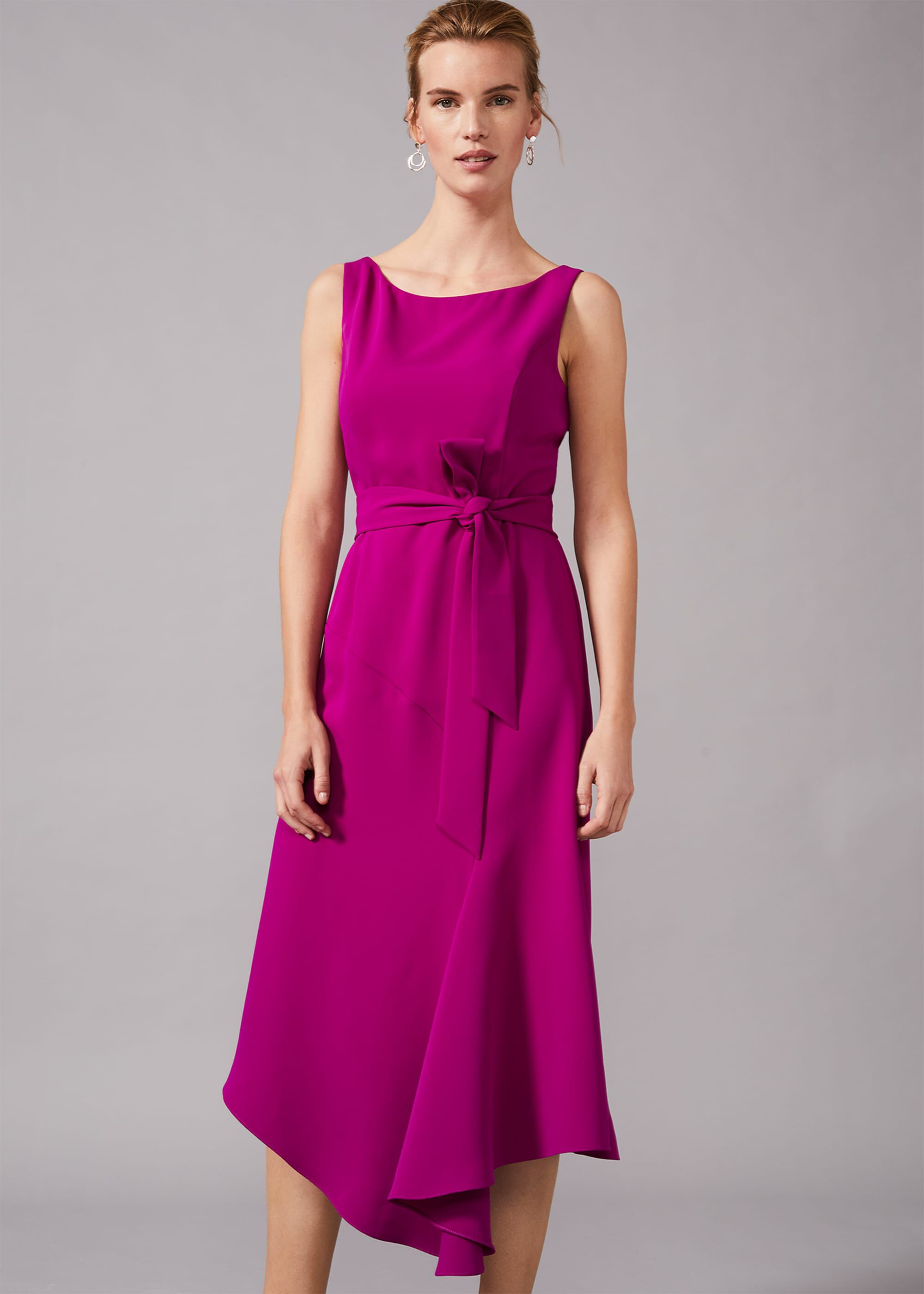 Phase Eight Tamara Asymmetric Dress, Purple, Asymmetric