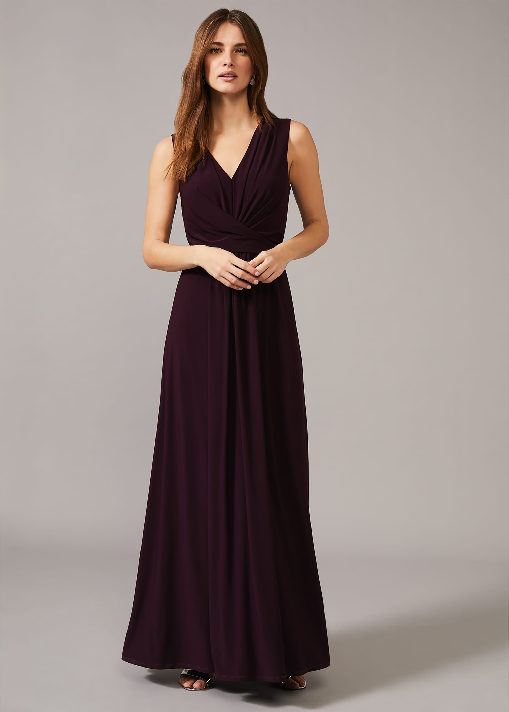 Phase Eight Althea Jersey Maxi Dress, Red, Occasion Dress