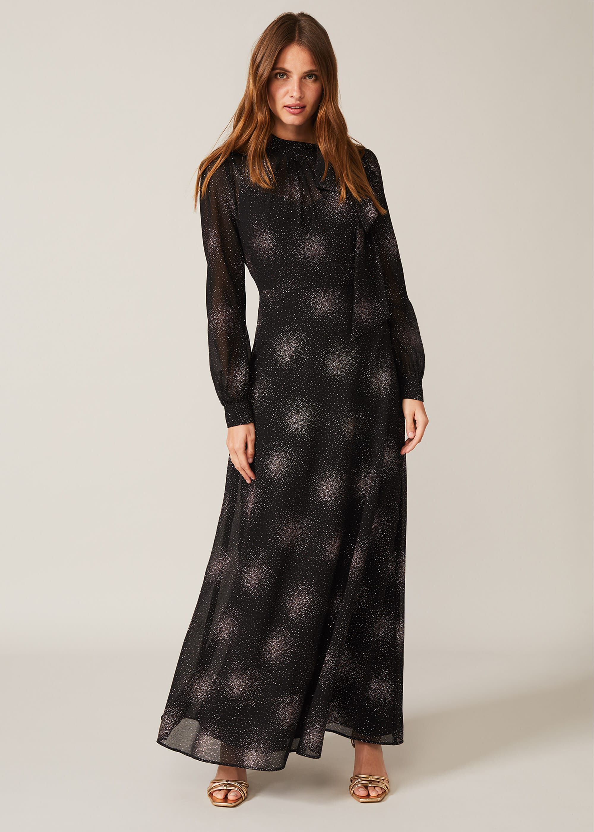 Phase Eight Melina Maxi Dress, Black, Occasion Dress