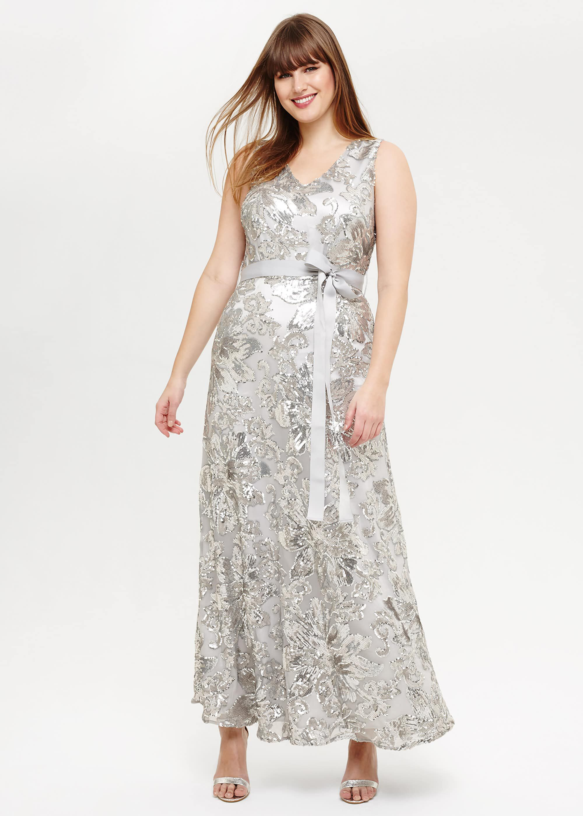 Studio 8 Venus Maxi Dress, Metallic, Maxi, Occasion Dress