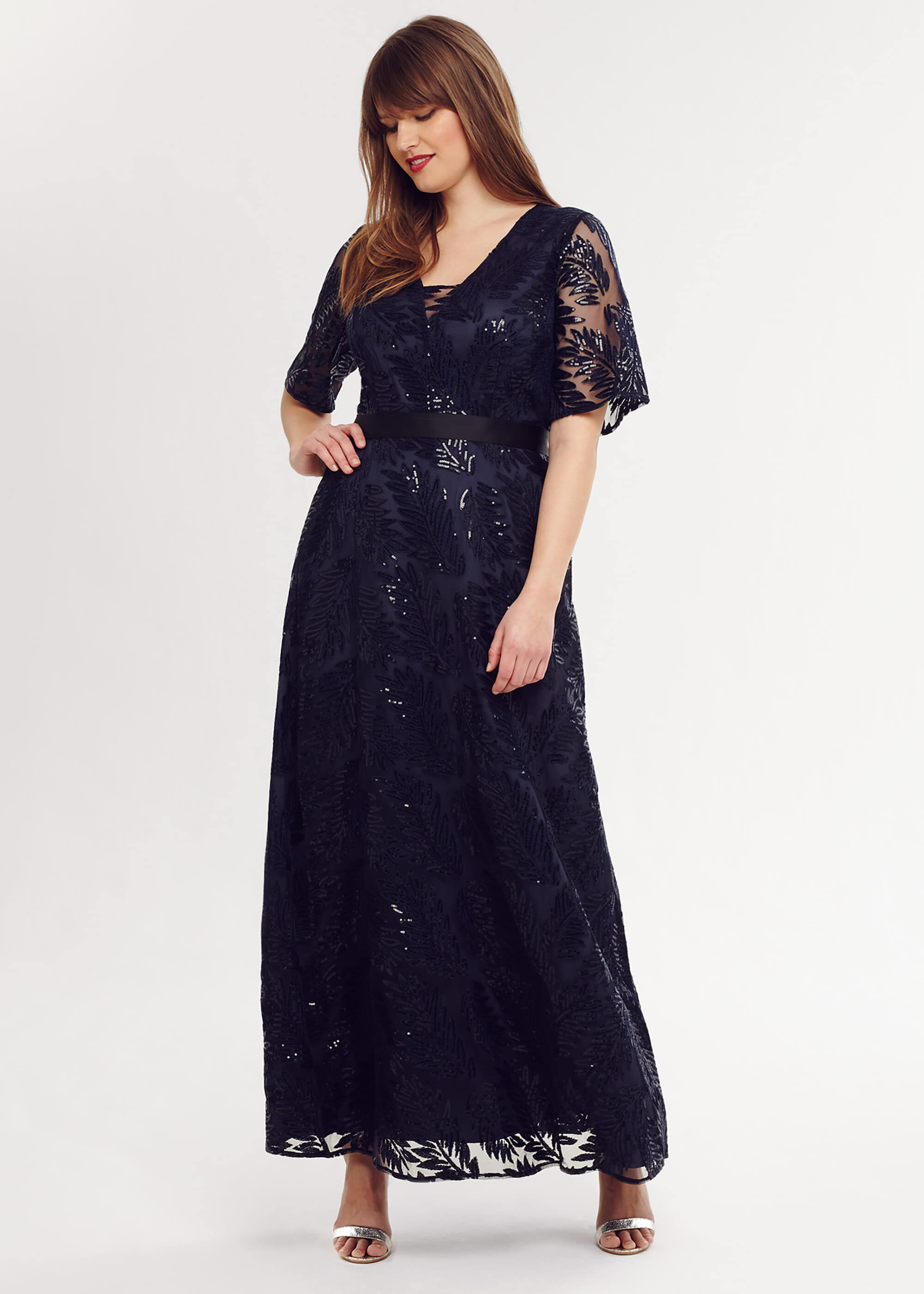Studio 8 Persephone Sequin Maxi Dress, Blue, Maxi, Occasion Dress
