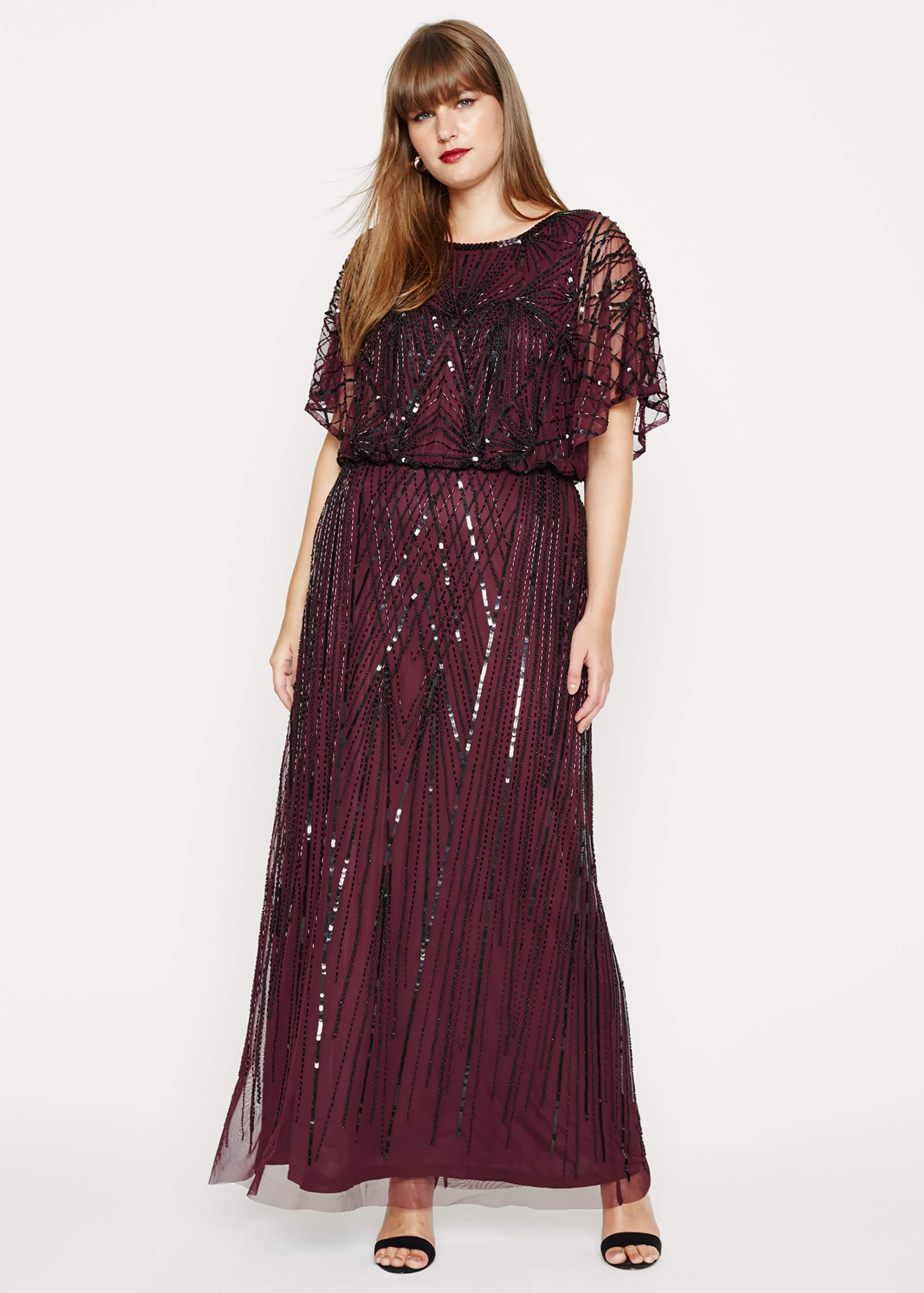 Studio 8 Phaedra Beaded Maxi Dress, Black, Maxi, Occasion Dress
