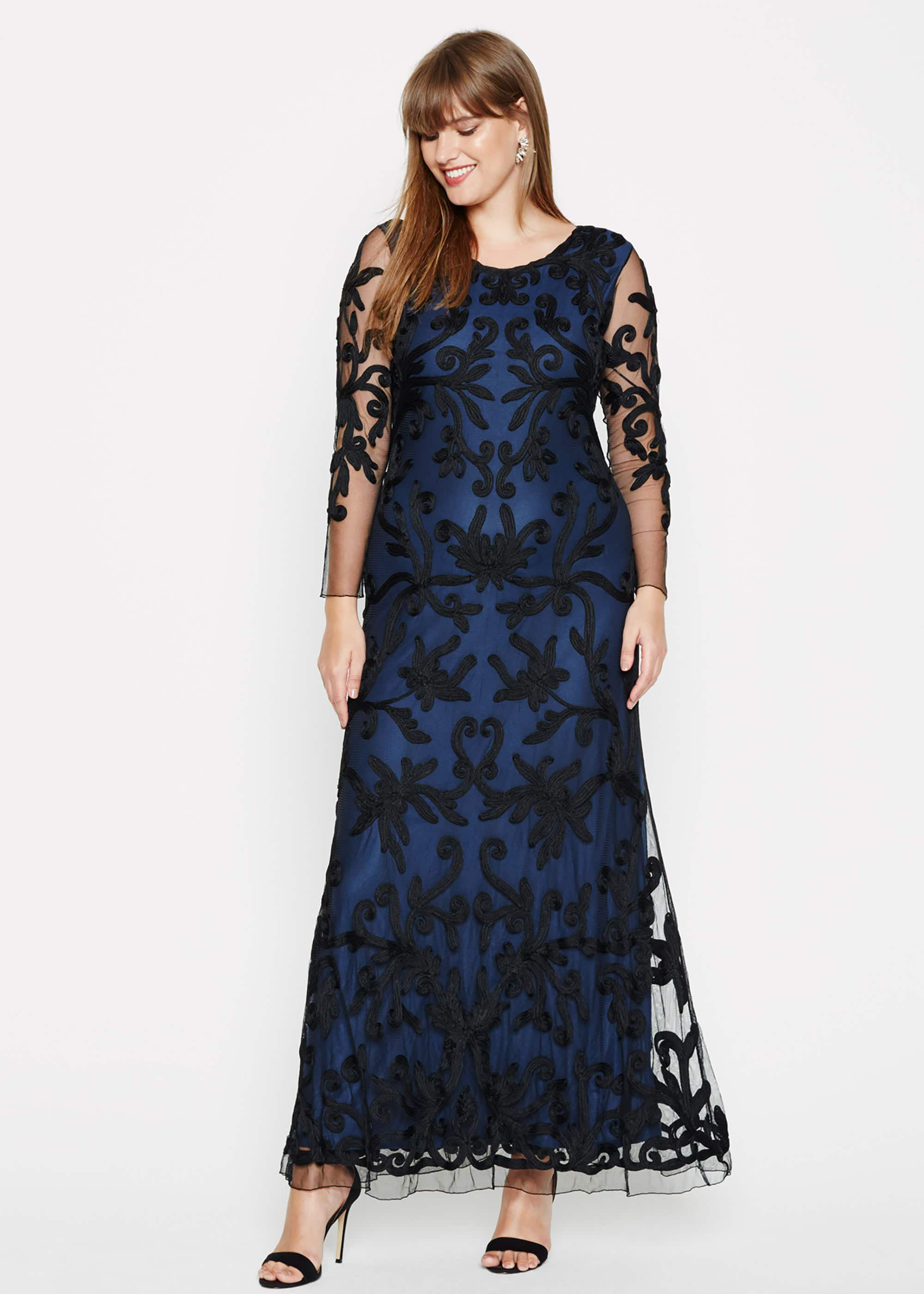 Studio 8 Jenna Tapework Maxi Dress, Blue, Maxi, Occasion Dress