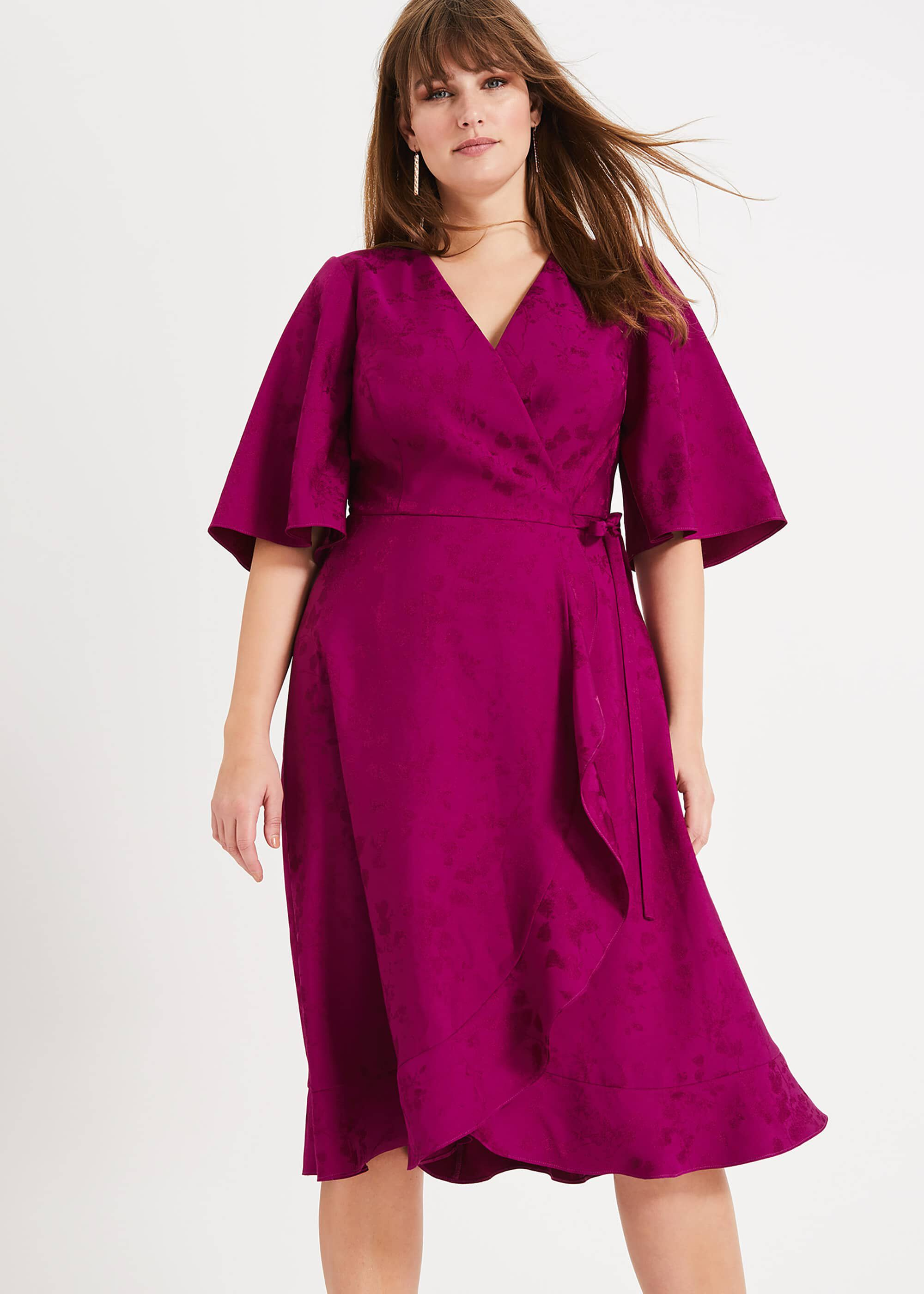Studio 8 Nola Wrap Dress, Purple, Wrap, Occasion Dress