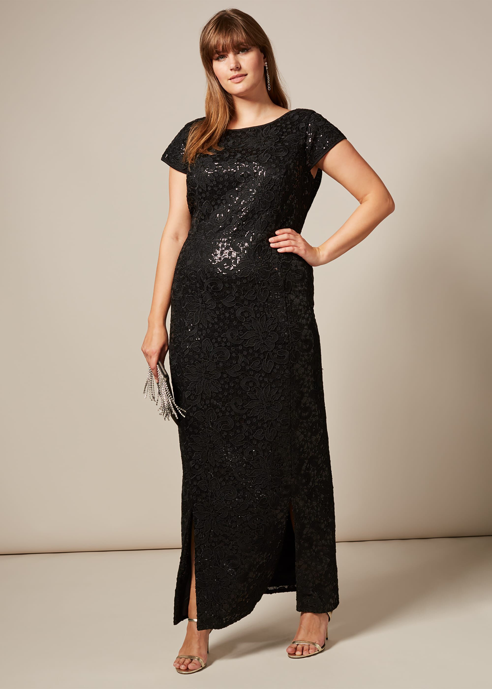 Studio 8 Lexi Maxi Dress, Black, Maxi, Occasion Dress