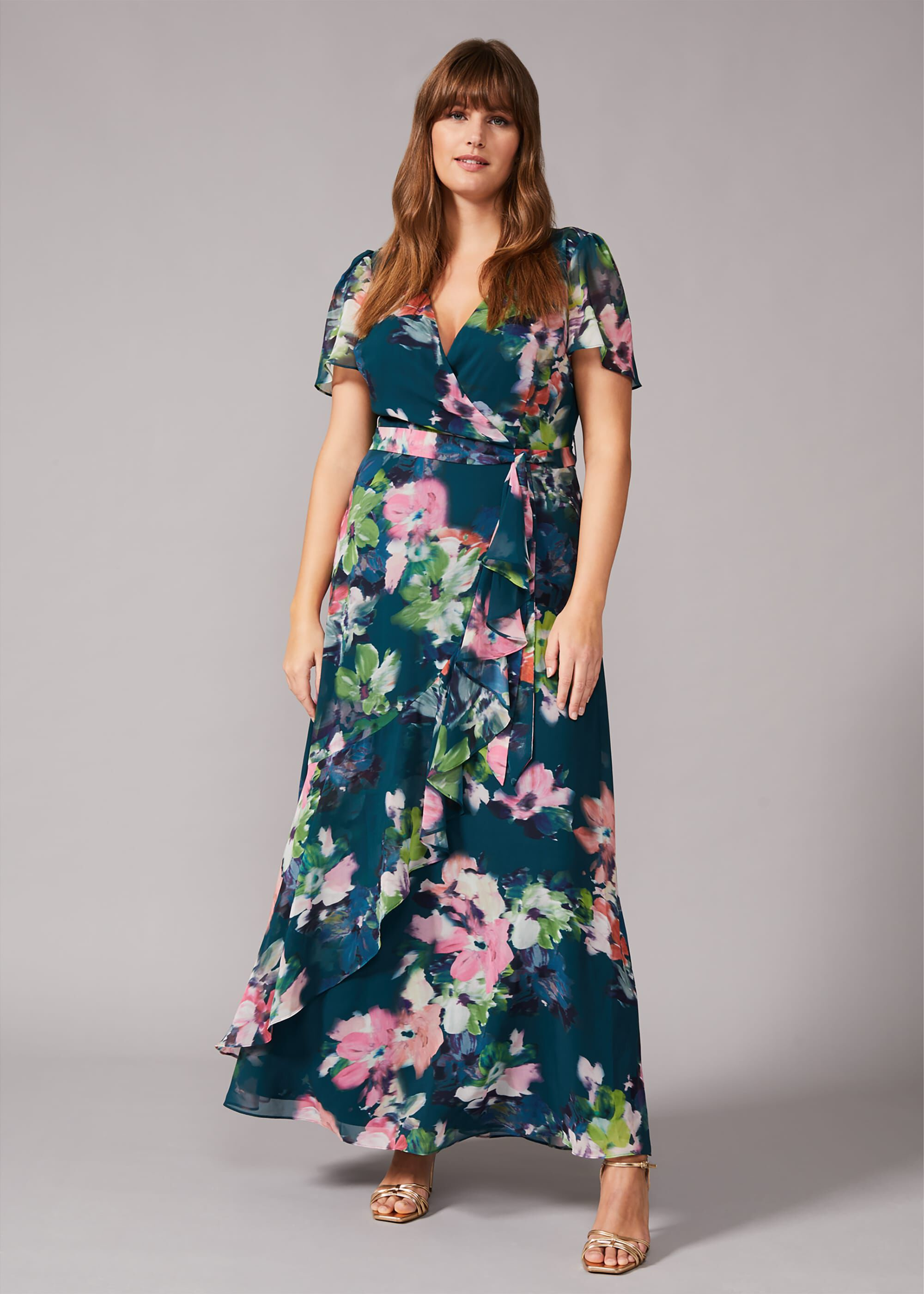 Studio 8 Cailyn Floral Maxi Dress, Green, Maxi, Occasion Dress