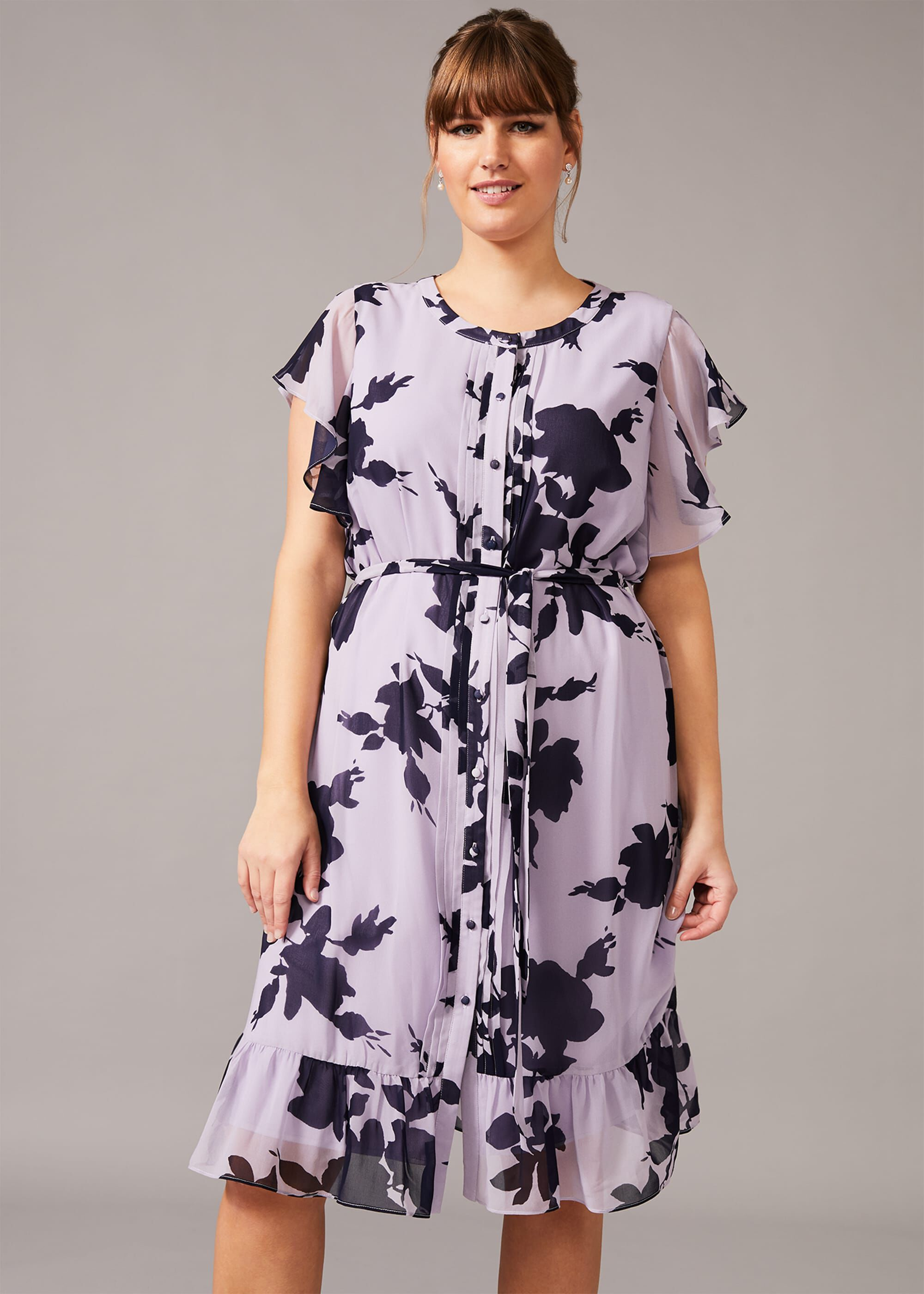 Studio 8 Aiden Floral Dress, Purple, Fit & Flare