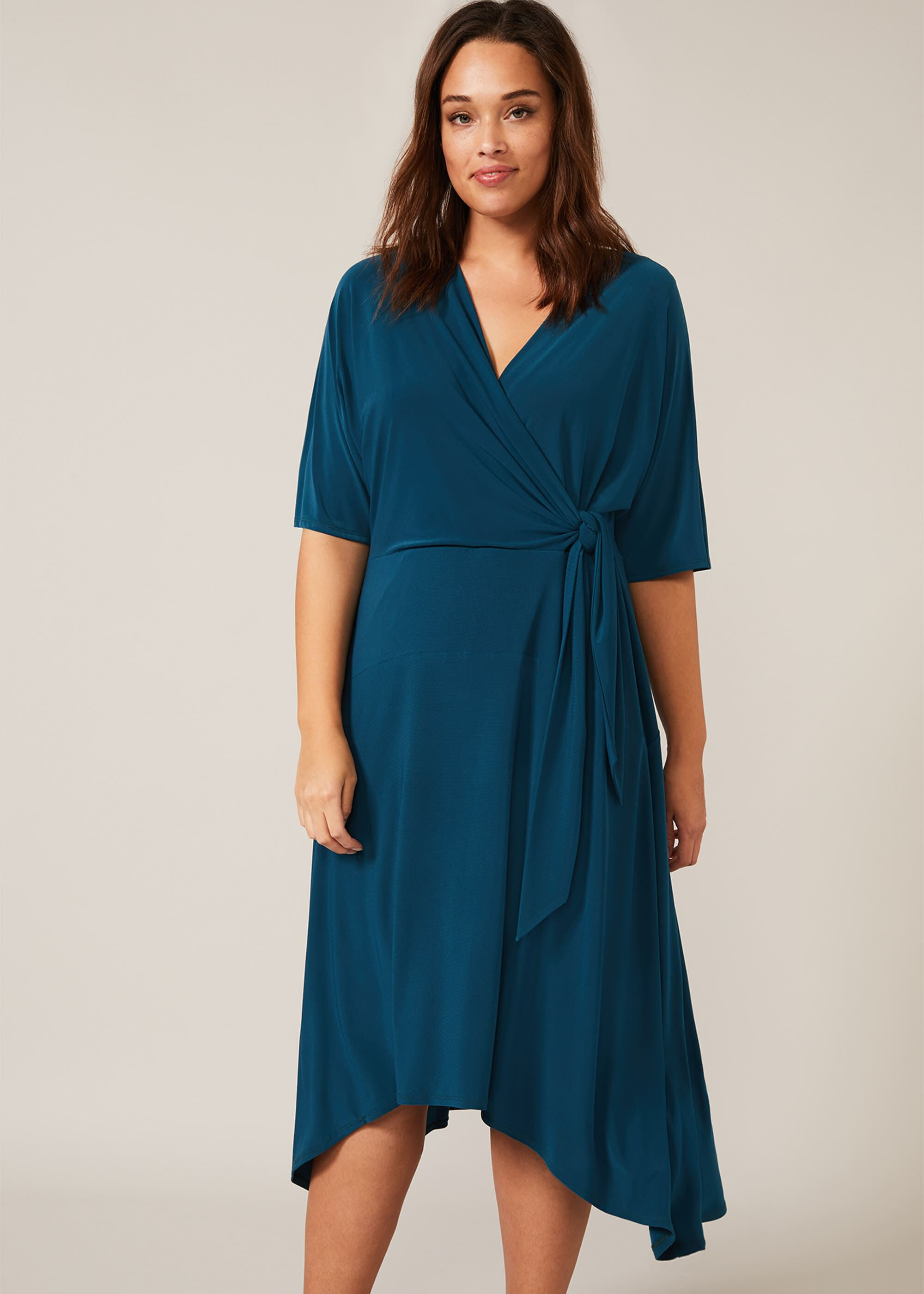Studio 8 Emery Jersey Dress, Blue, Fit & Flare, Occasion Dress
