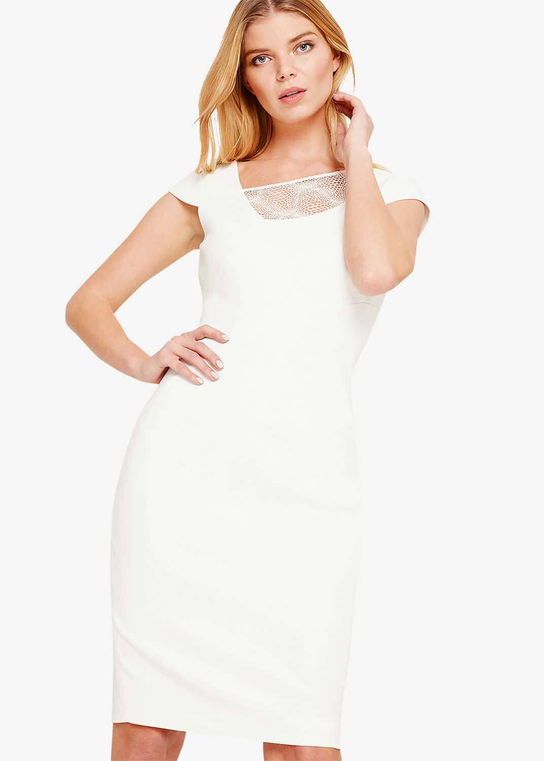 Damsel in a Dress Clivedon Lace Trim Dress, Cream