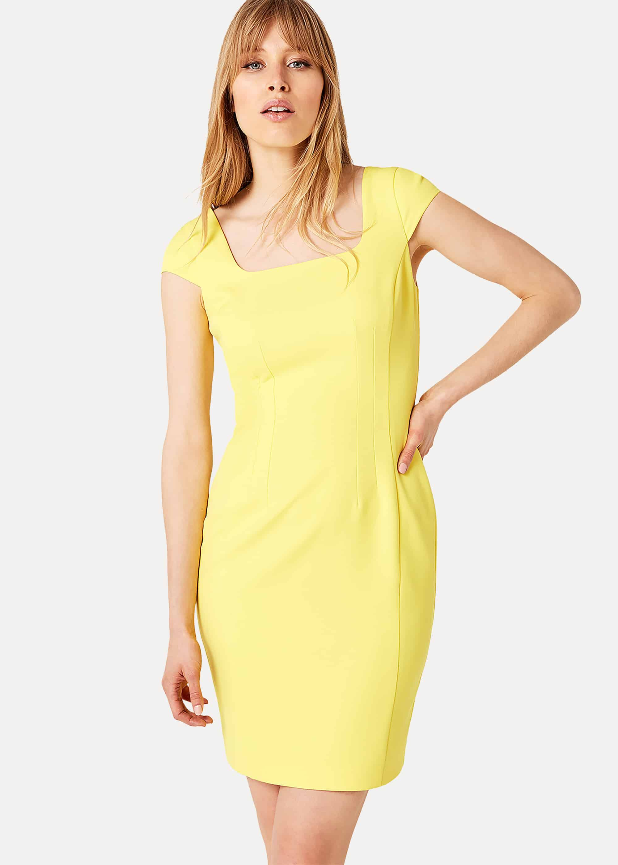 Damsel in a Dress Sheridan Fitted Dress, Yellow