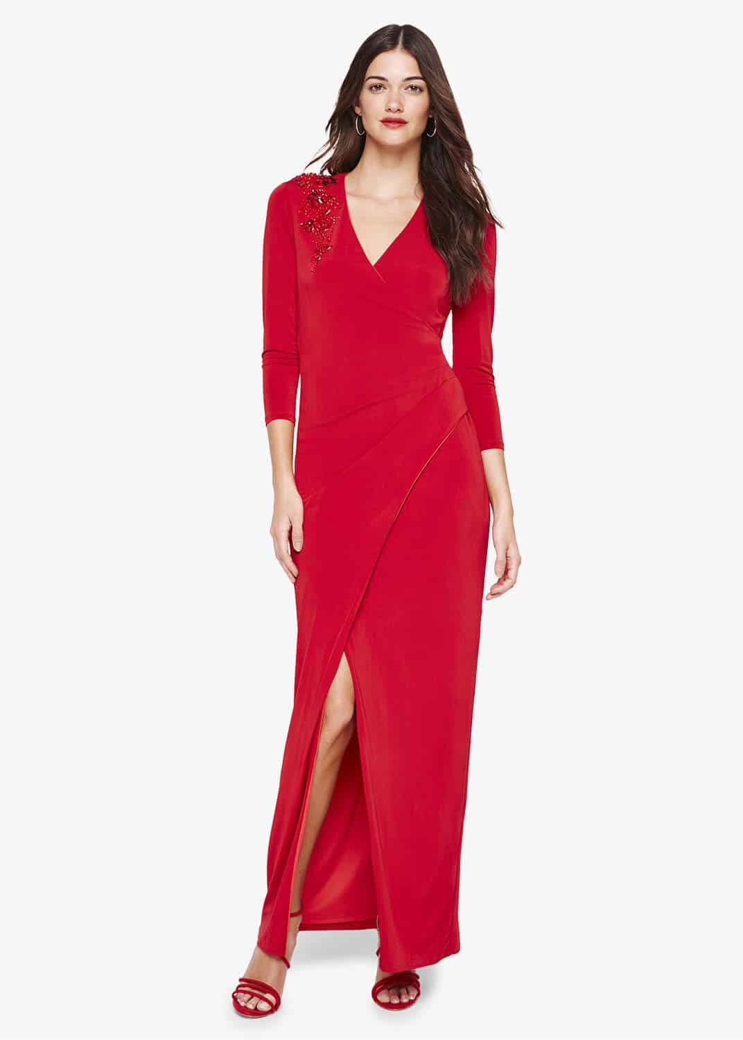 Damsel in a Dress Samia Slinky Jersey Maxi Dress, Red