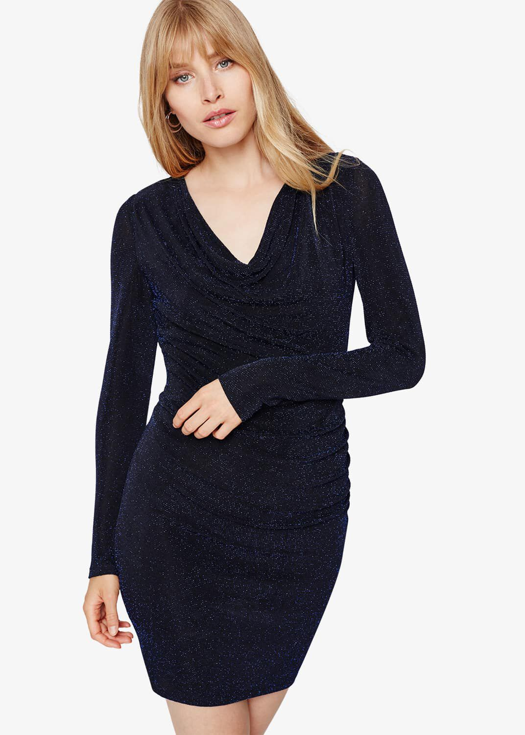 Damsel in a Dress Dasia Shimmer Jersey Dress, Black
