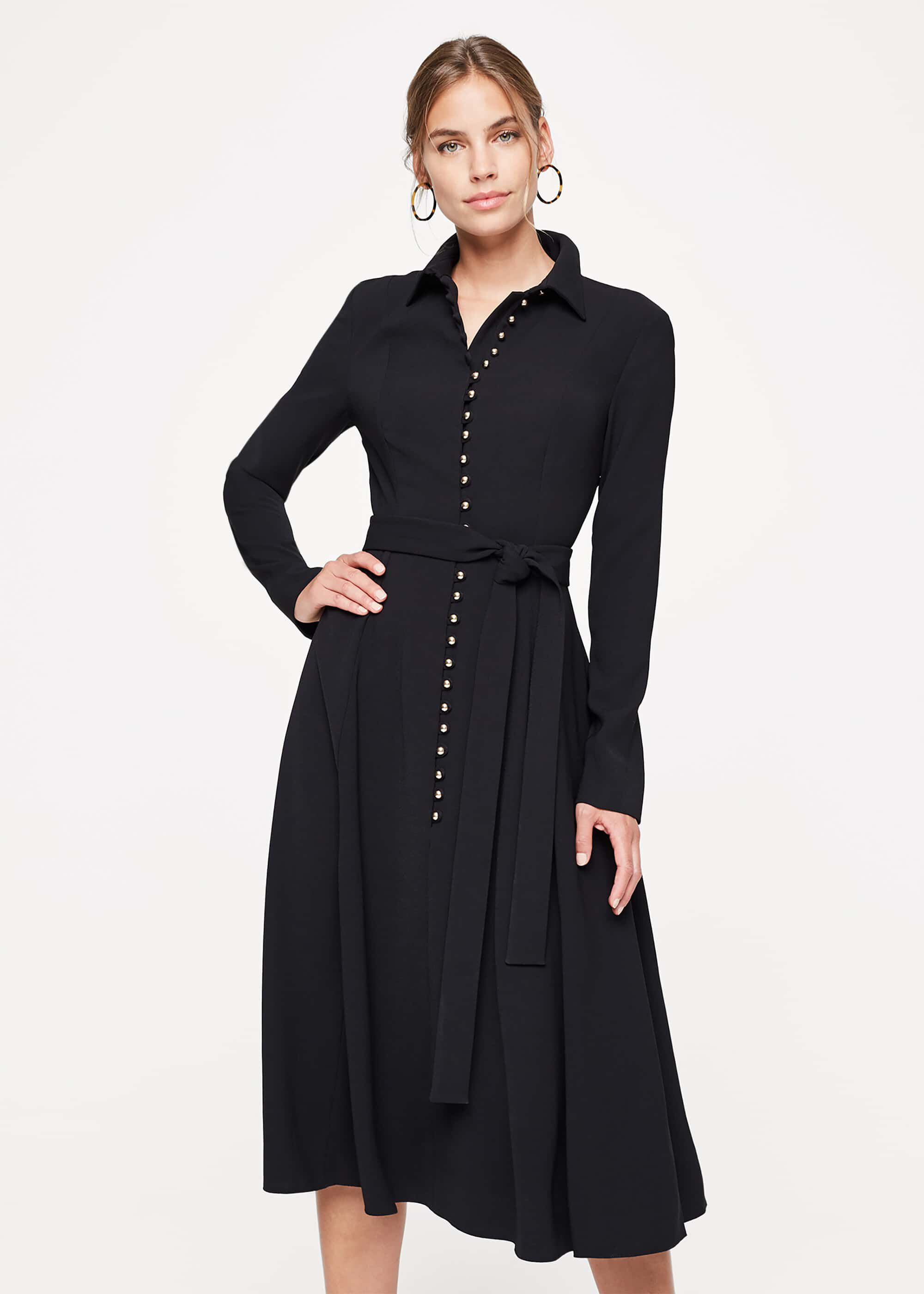 Damsel in a Dress Lanie Military Dress, Black