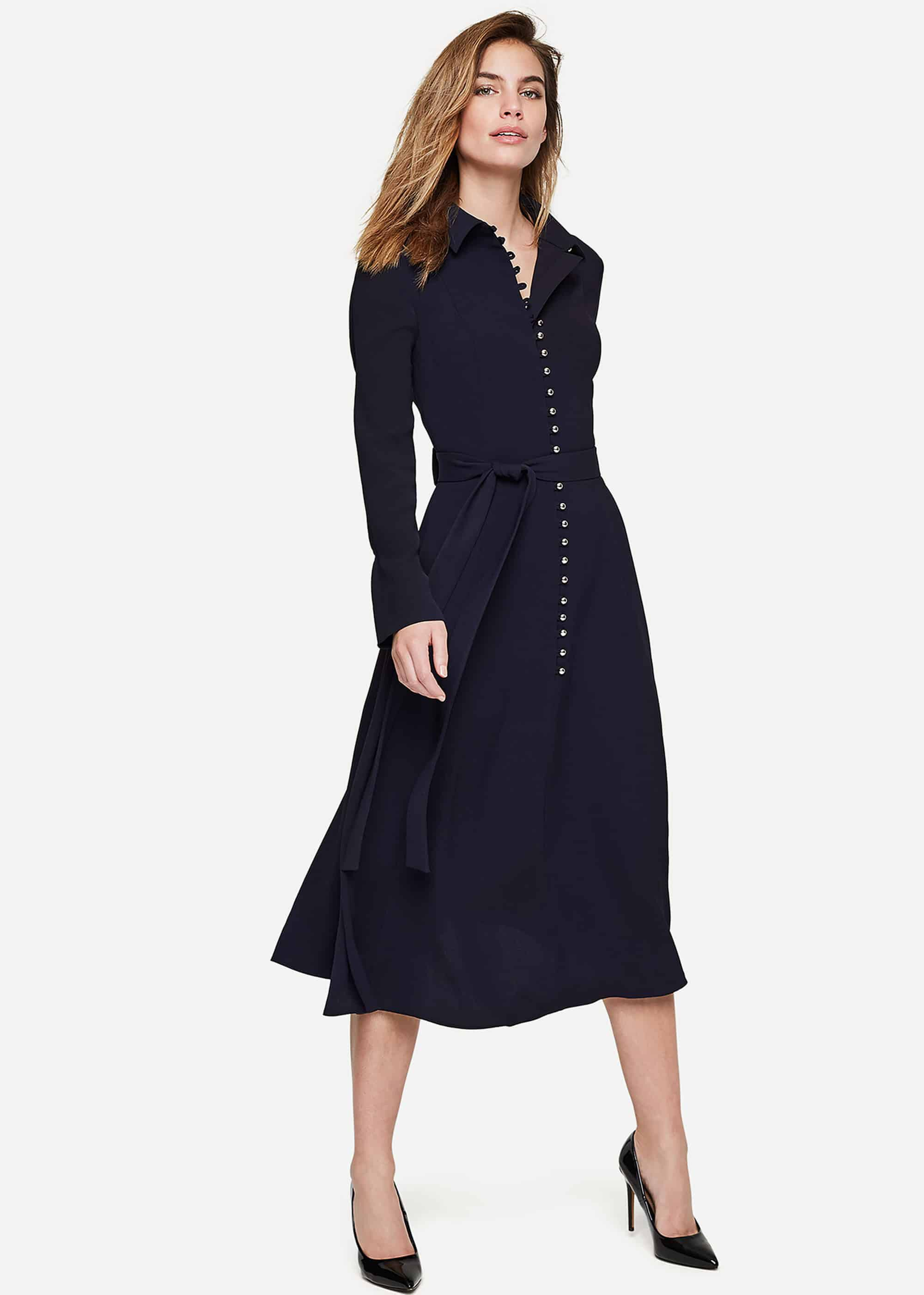 Damsel in a Dress Lanie Military Dress, Blue