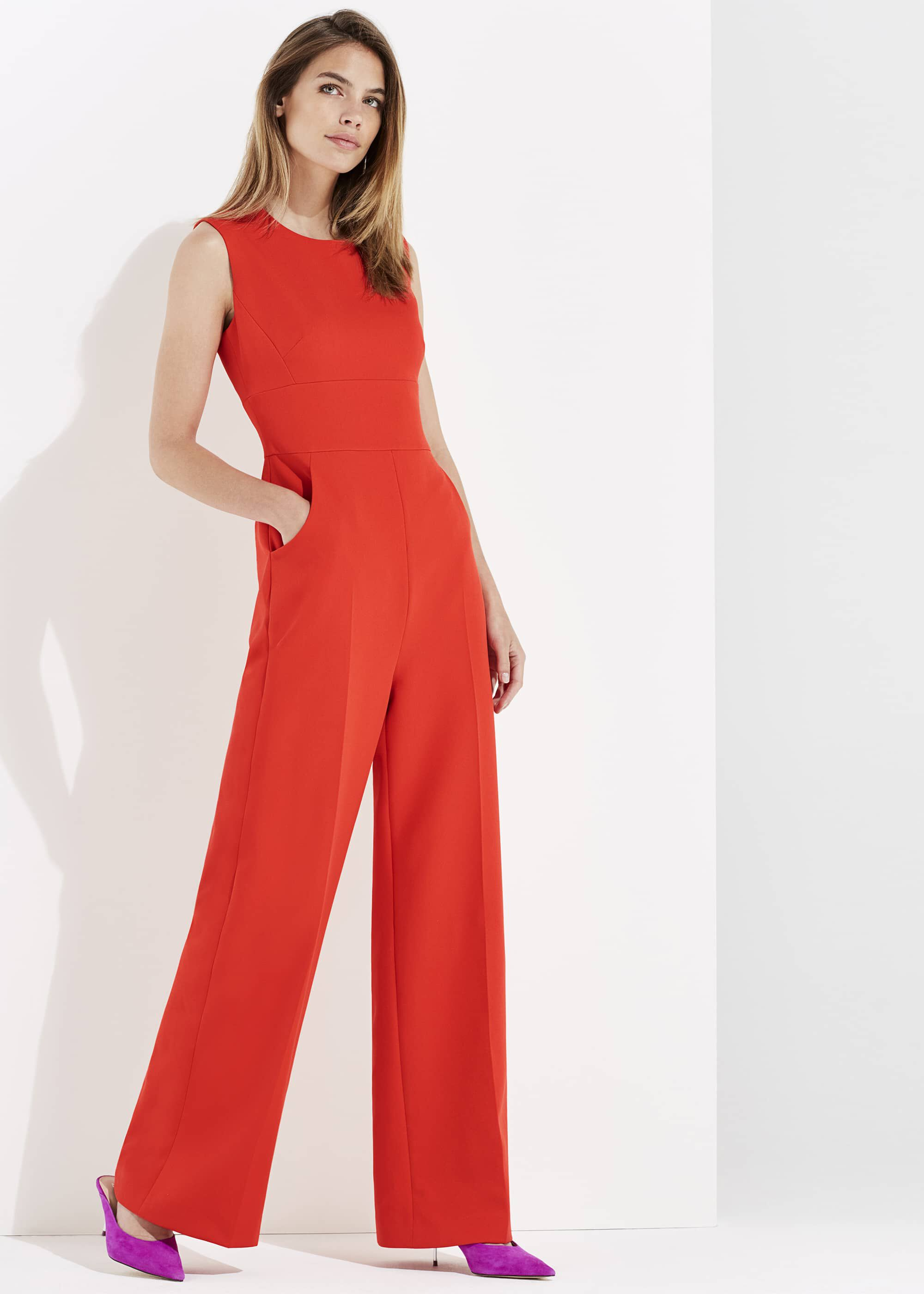 Damsel in a Dress Camilla Jumpsuit, Orange