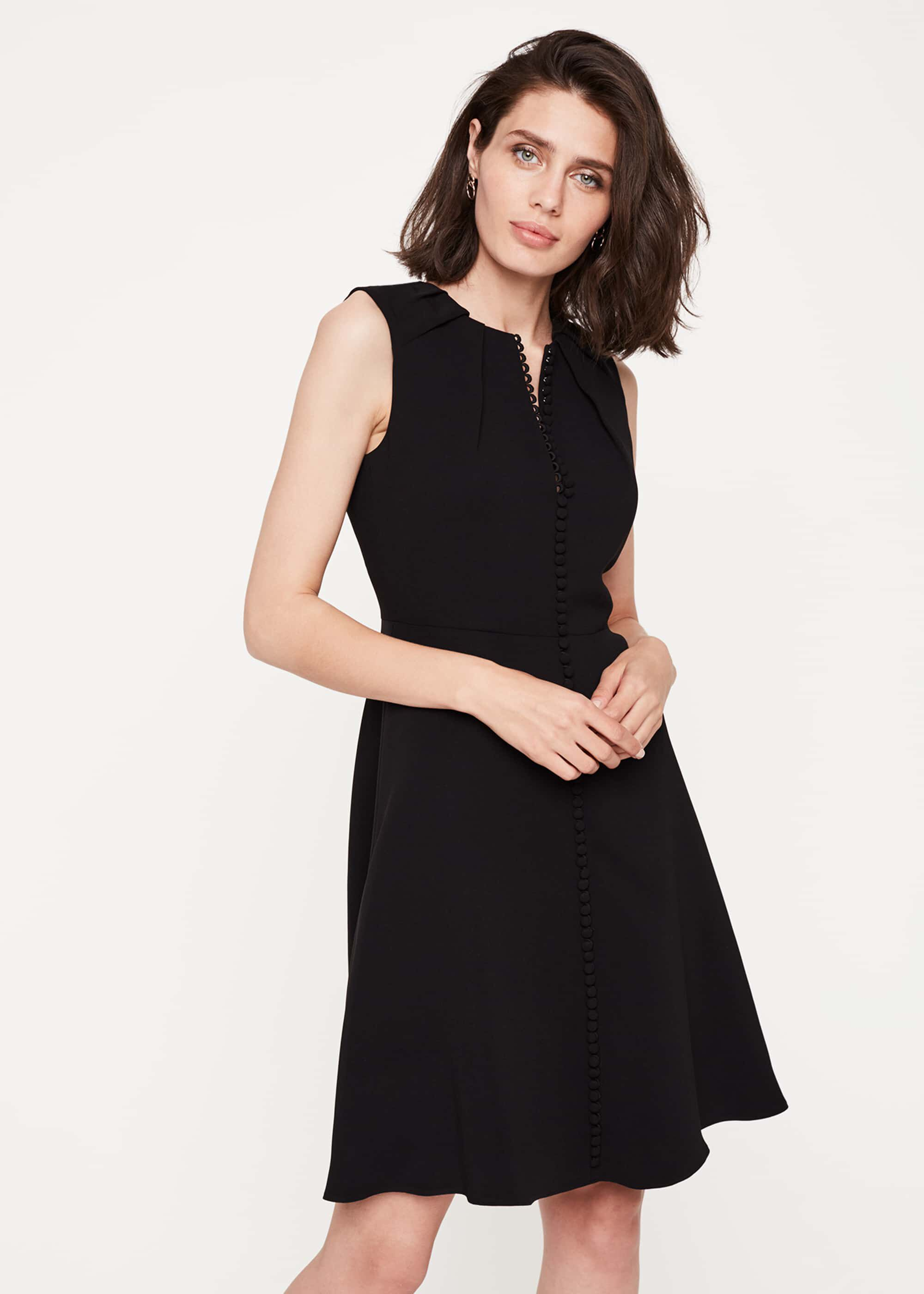 Damsel in a Dress Bella Button Detail Dress, Black