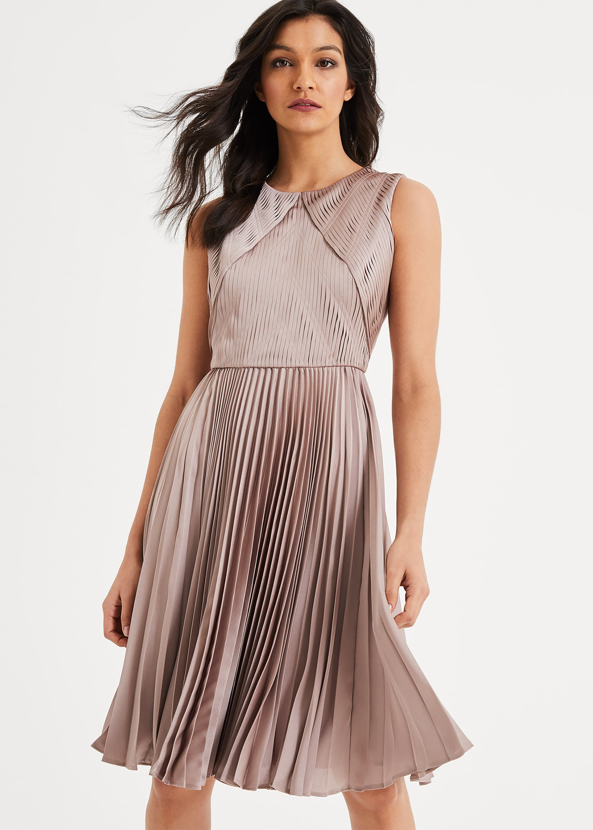 Damsel in a Dress Zoey Pleated Dress, Pink