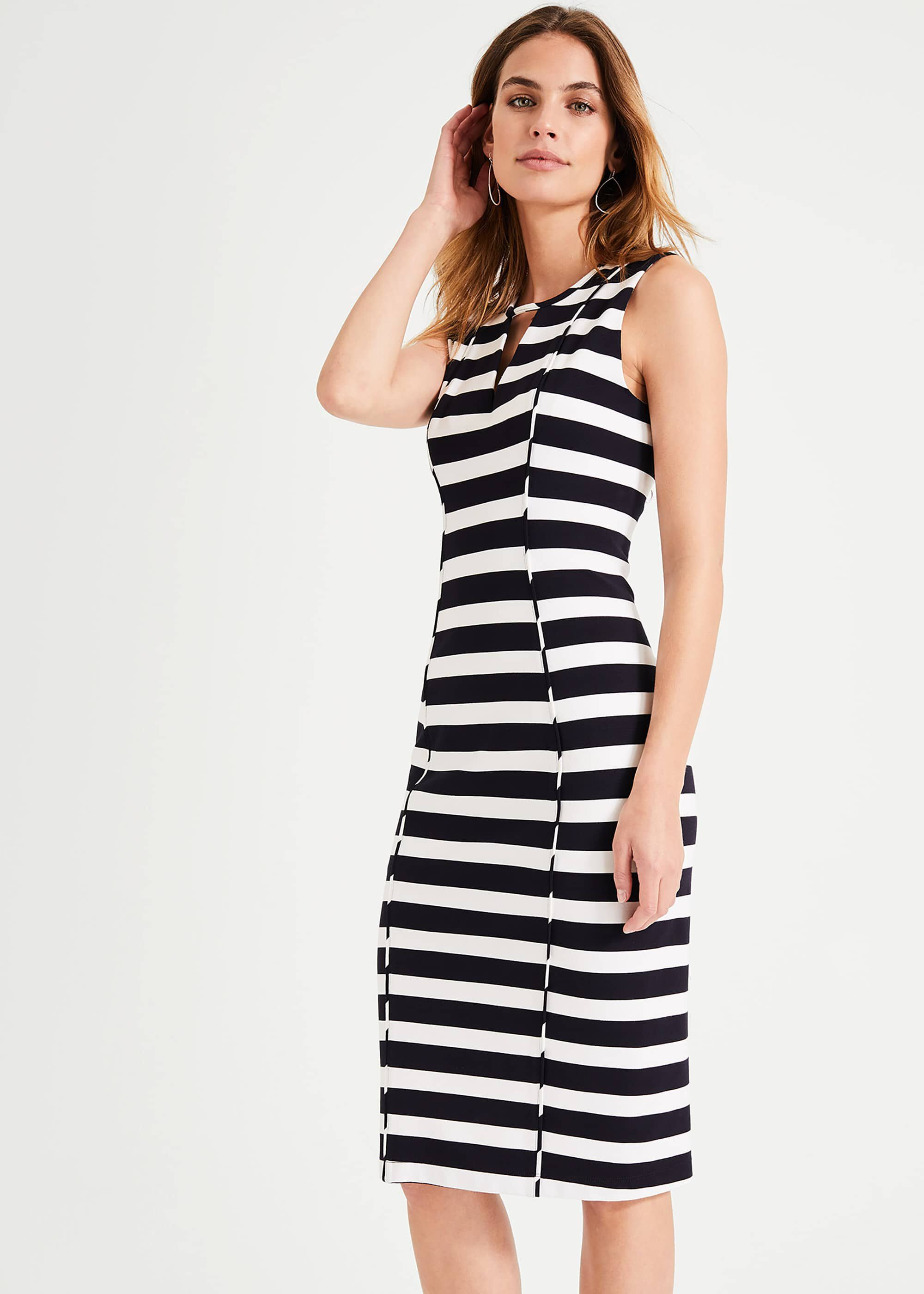 Damsel in a Dress Sade Stripe Dress, Black