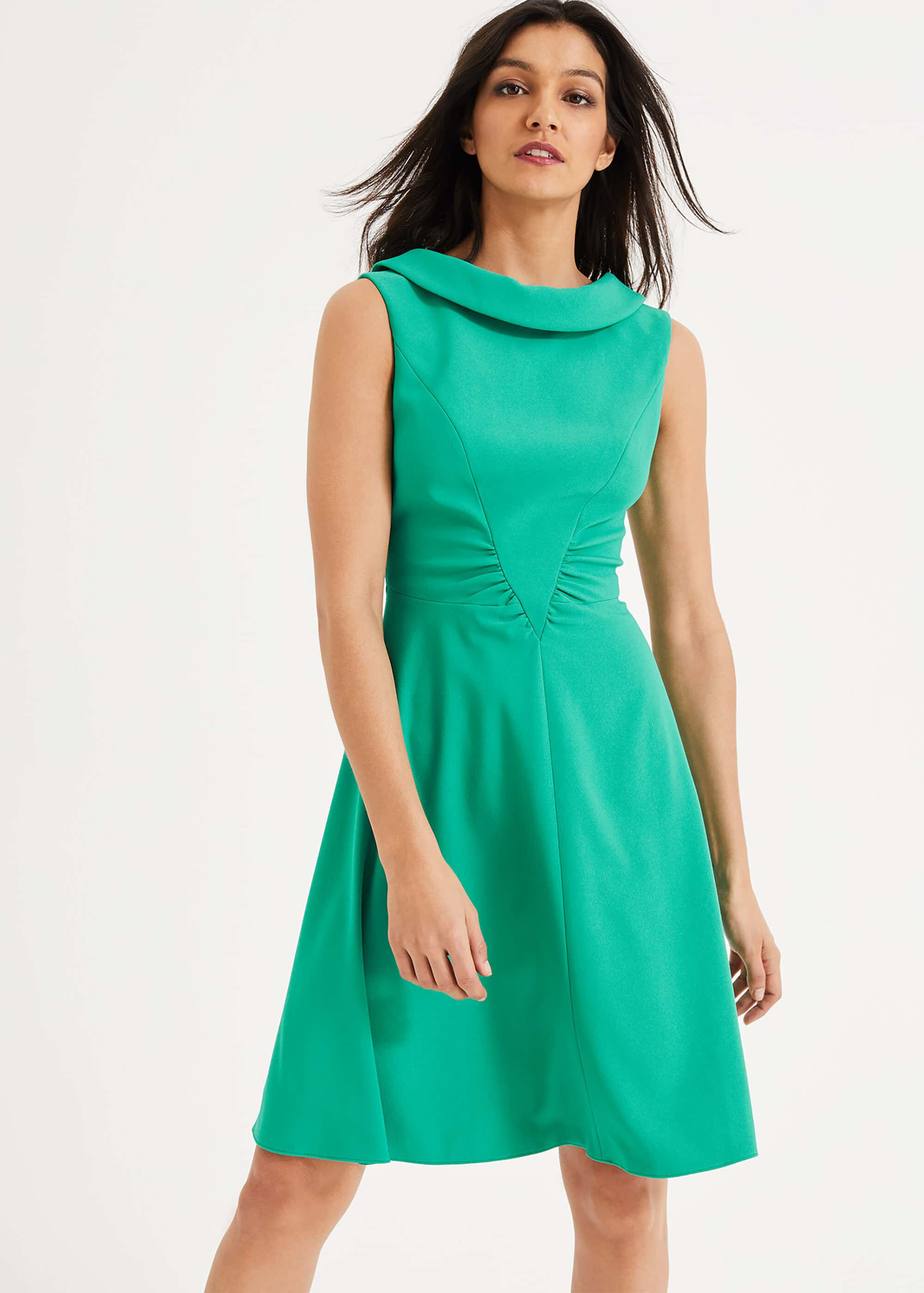 Damsel in a Dress Charly Ruched Waist Dress, Green