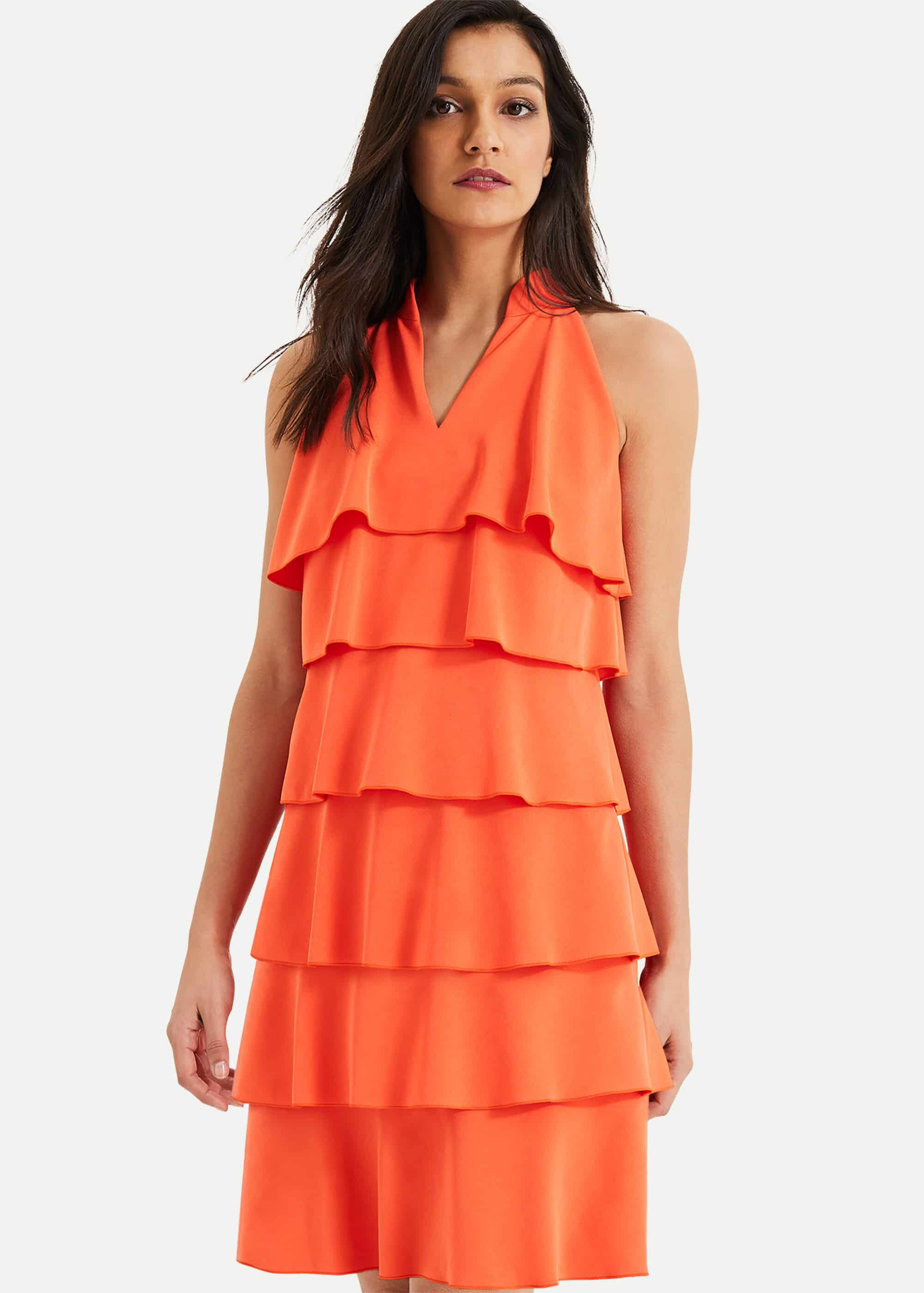 Damsel in a Dress Lenia Ruffle Dress, Orange