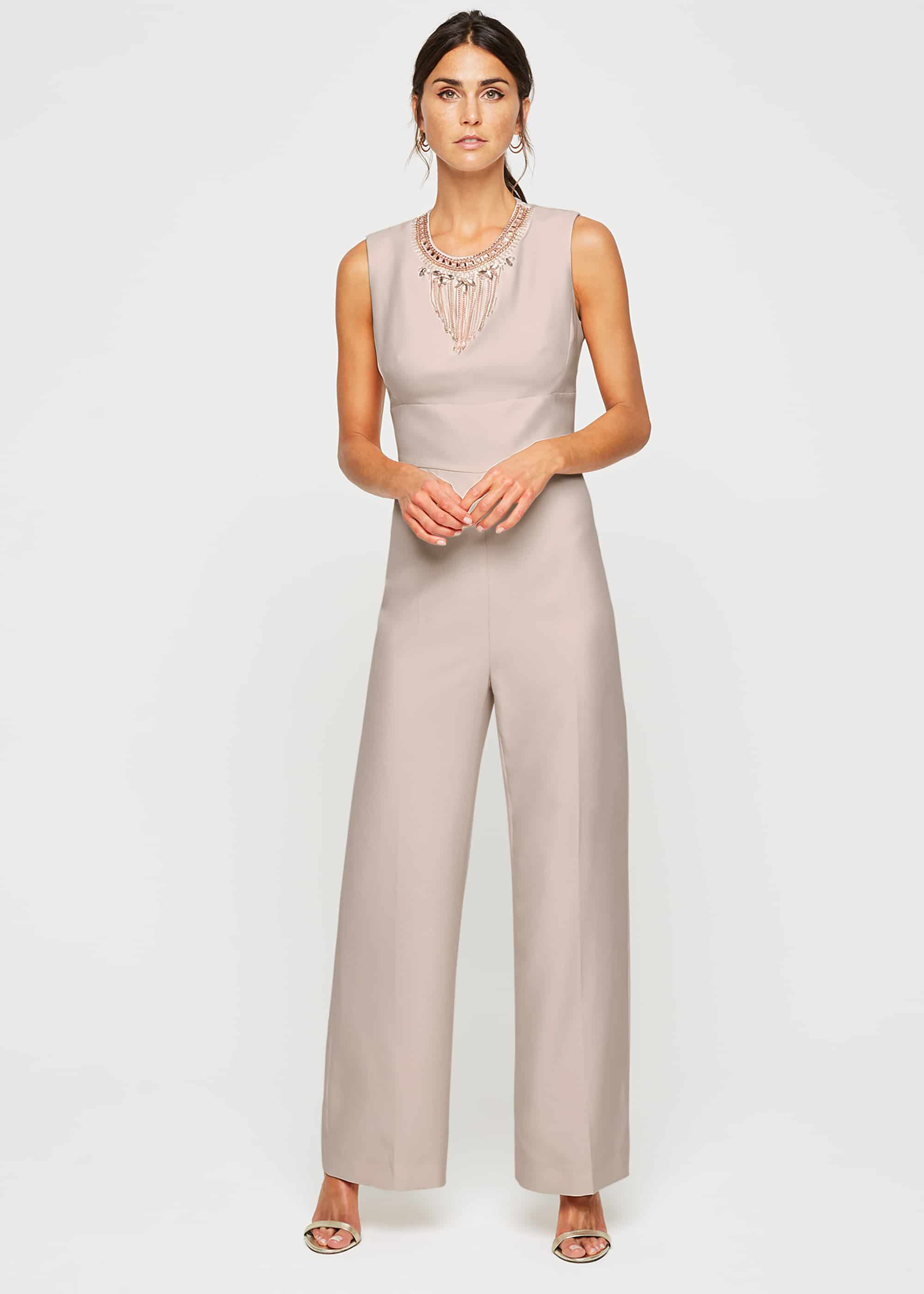 Damsel in a Dress Jimena Beaded Jumpsuit, Pink