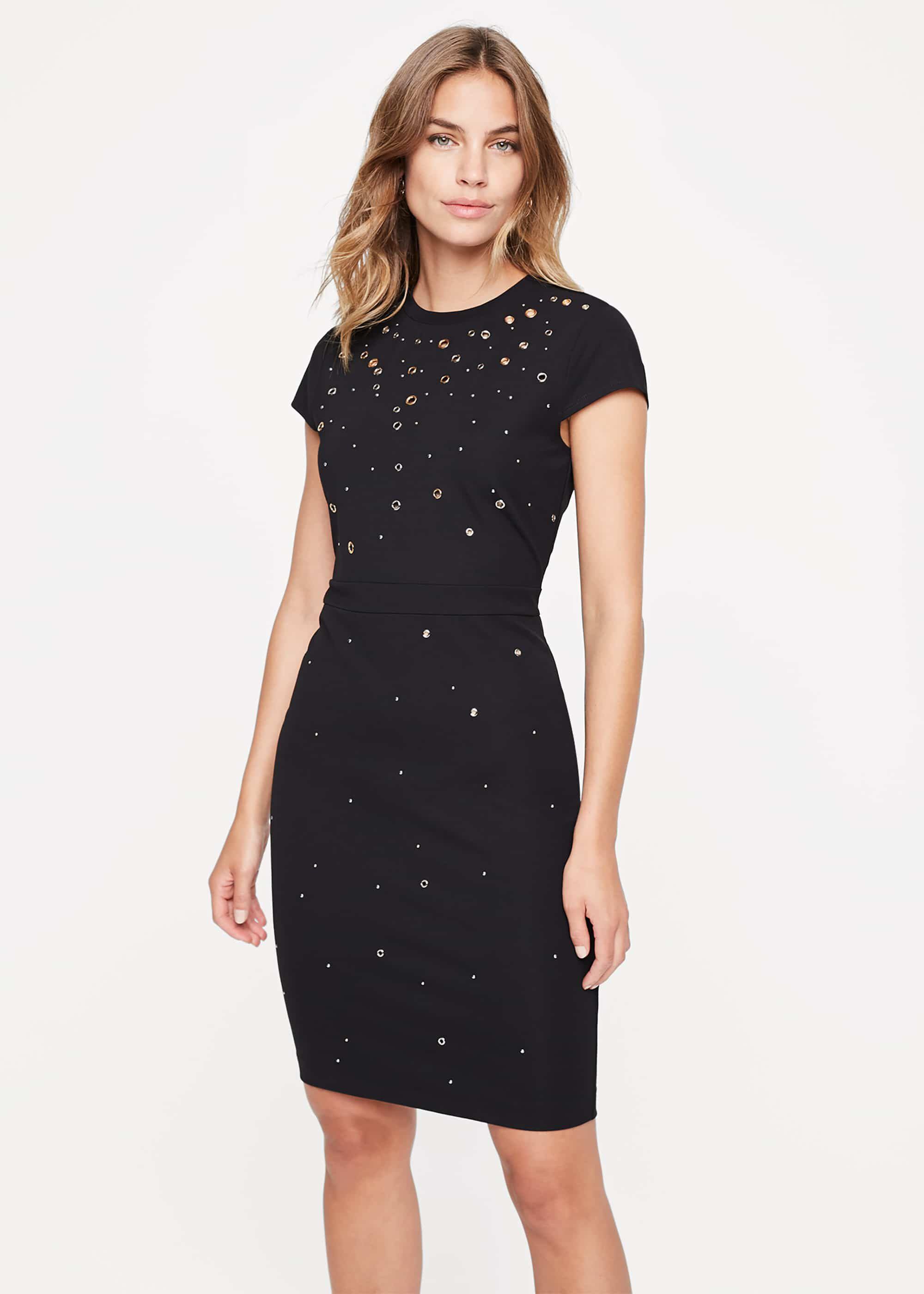 Damsel in a Dress Lorne Eyelet Jersey Dress, Black