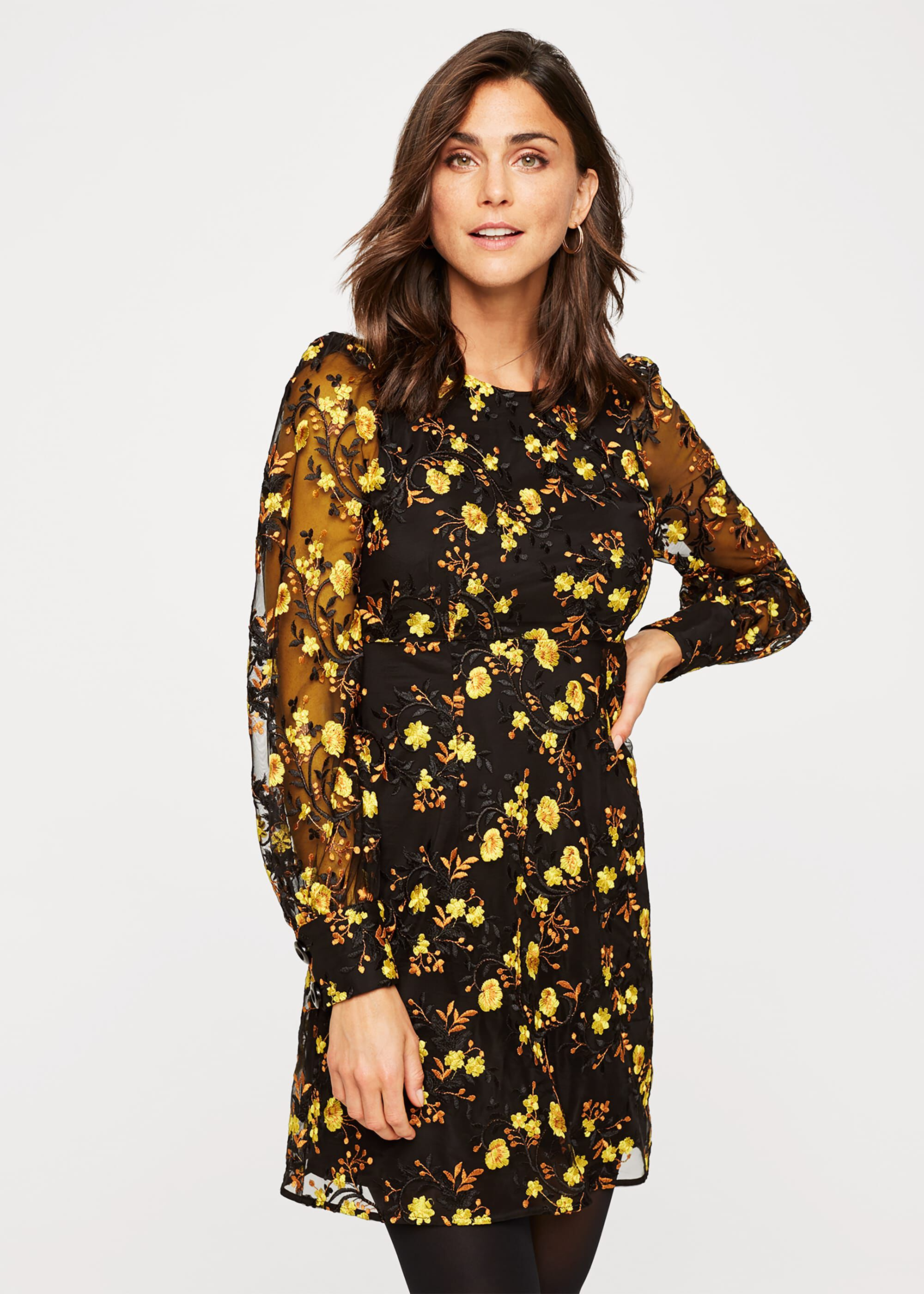 Damsel in a Dress Lovell Embroidered Dress, Black, Occasion Dress