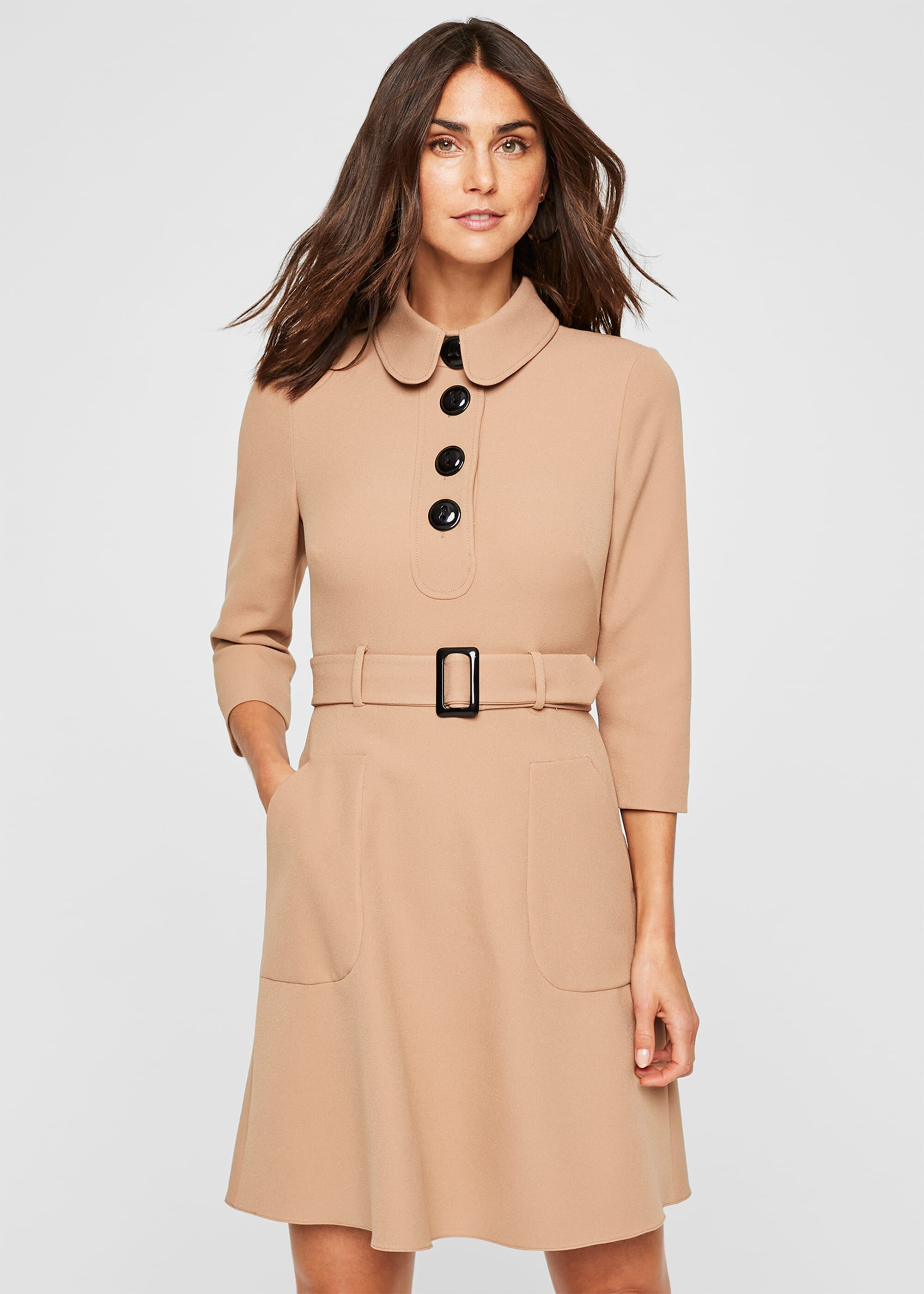 Damsel in a Dress Adie Button Detail Dress, Neutral