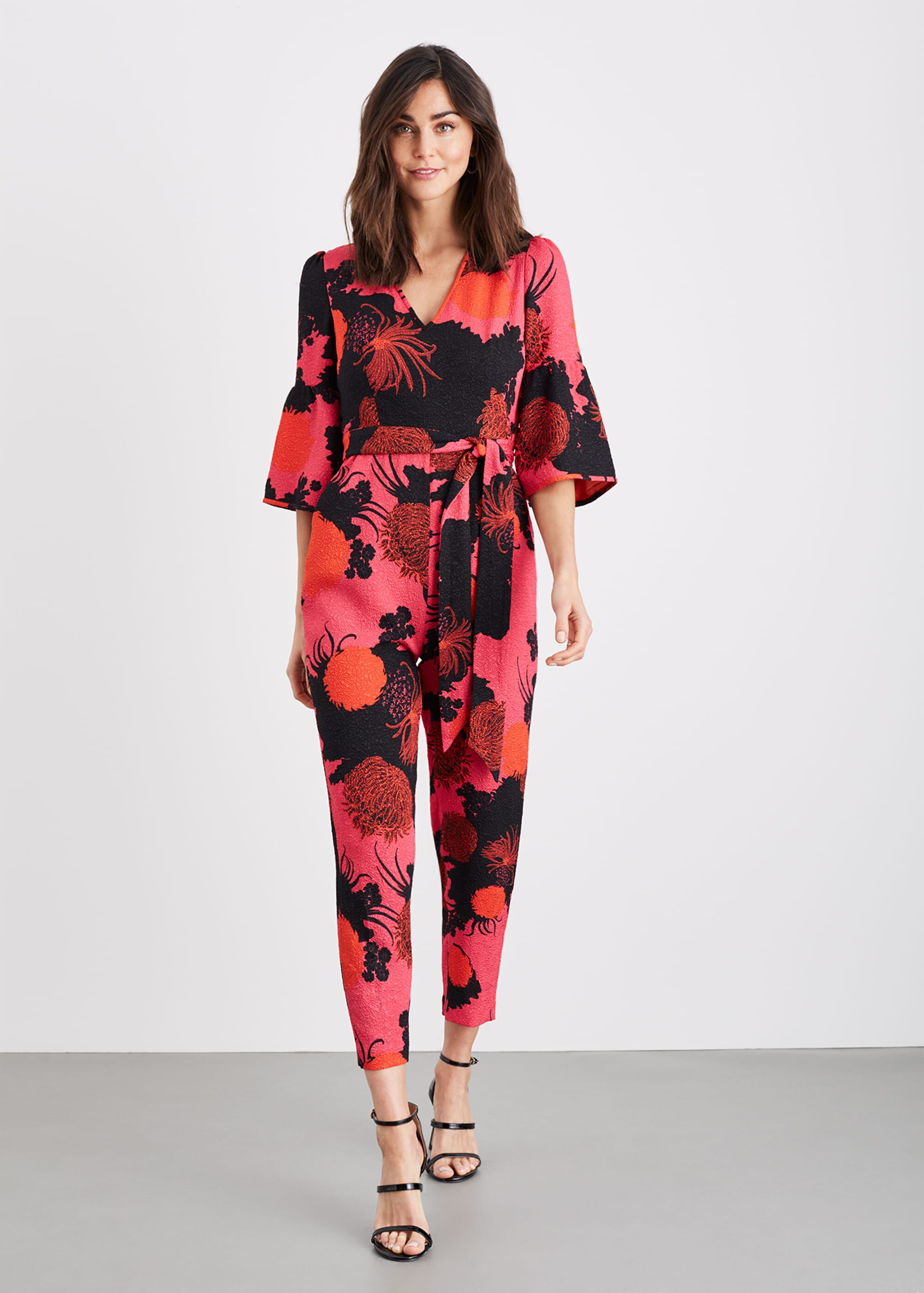 Damsel in a Dress Annora Floral Tapered Jumpsuit, Pink, Occasion Dress