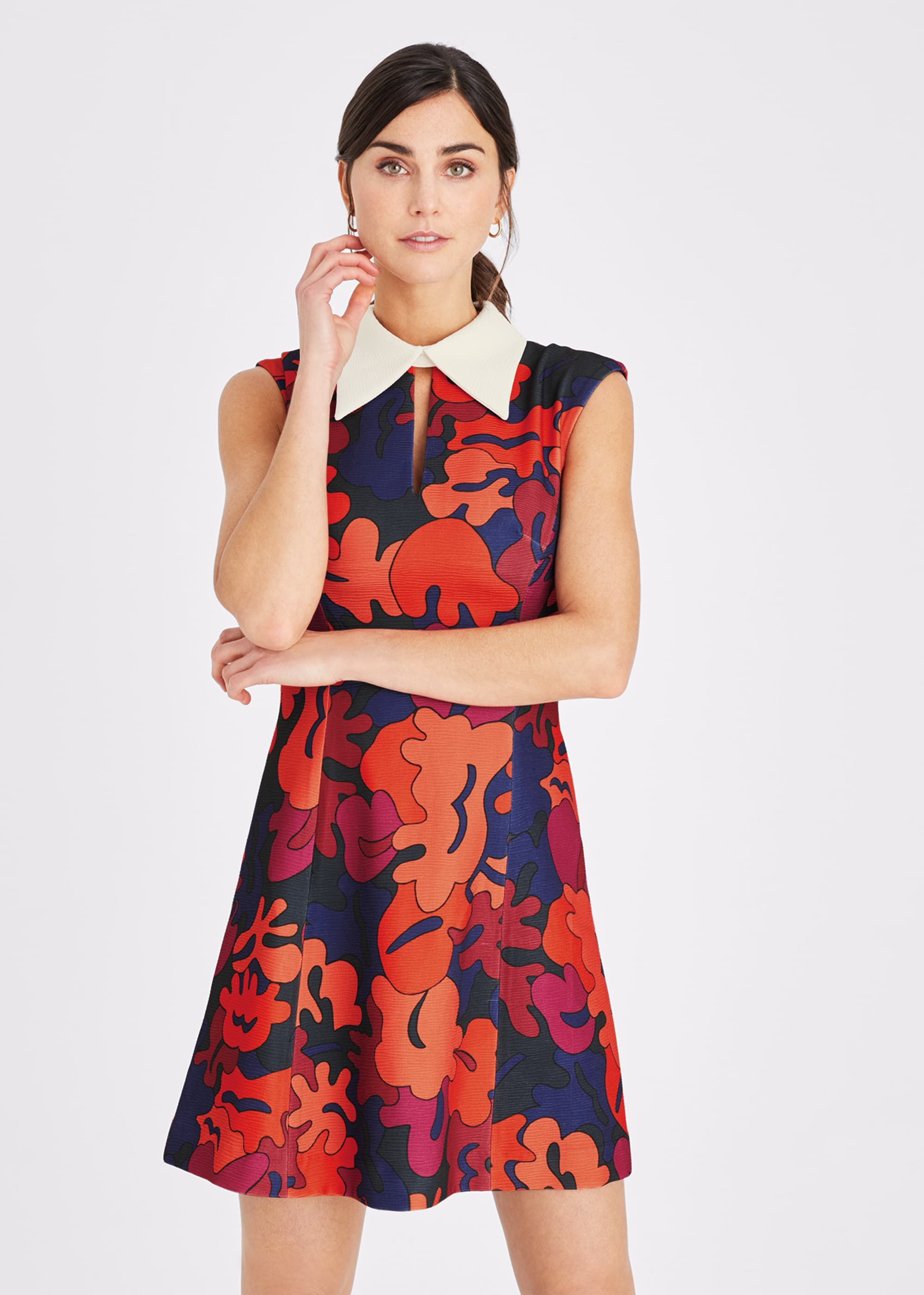 500 Vintage Style Dresses for Sale | Vintage Inspired Dresses Damsel in a Dress Valenta Print Dress Multicoloured £127.20 AT vintagedancer.com